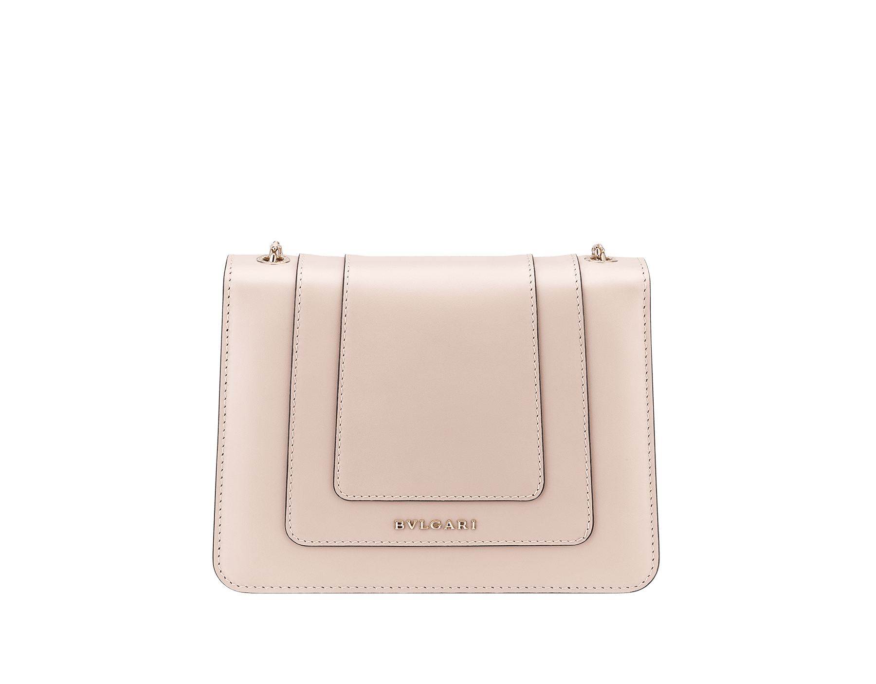 """Serpenti Forever"" crossbody bag in crystal rose calf leather. Iconic snakehead closure in light gold plated brass enriched with black and white enamel and green malachite eyes 287017 image 3"