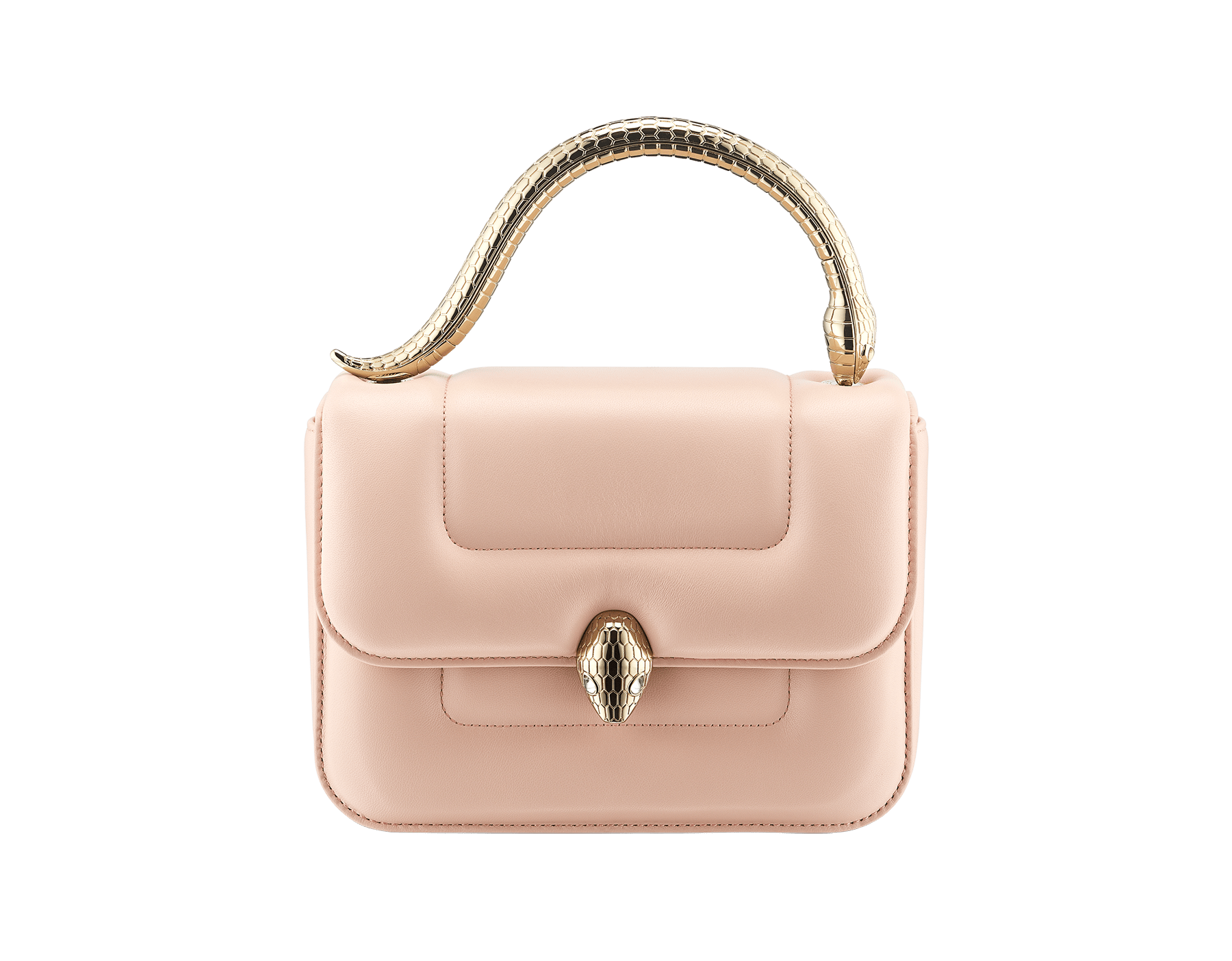 """""""Mary Katrantzou x Bvlgari"""" top handle bag in soft matelassé Aegean Topaz blue nappa leather, with Aegean Topaz blue nappa leather inner lining. New Serpenti head closure in gold-plated brass, finished with seductive crystal eyes. Special Edition. MK-1142 image 1"""