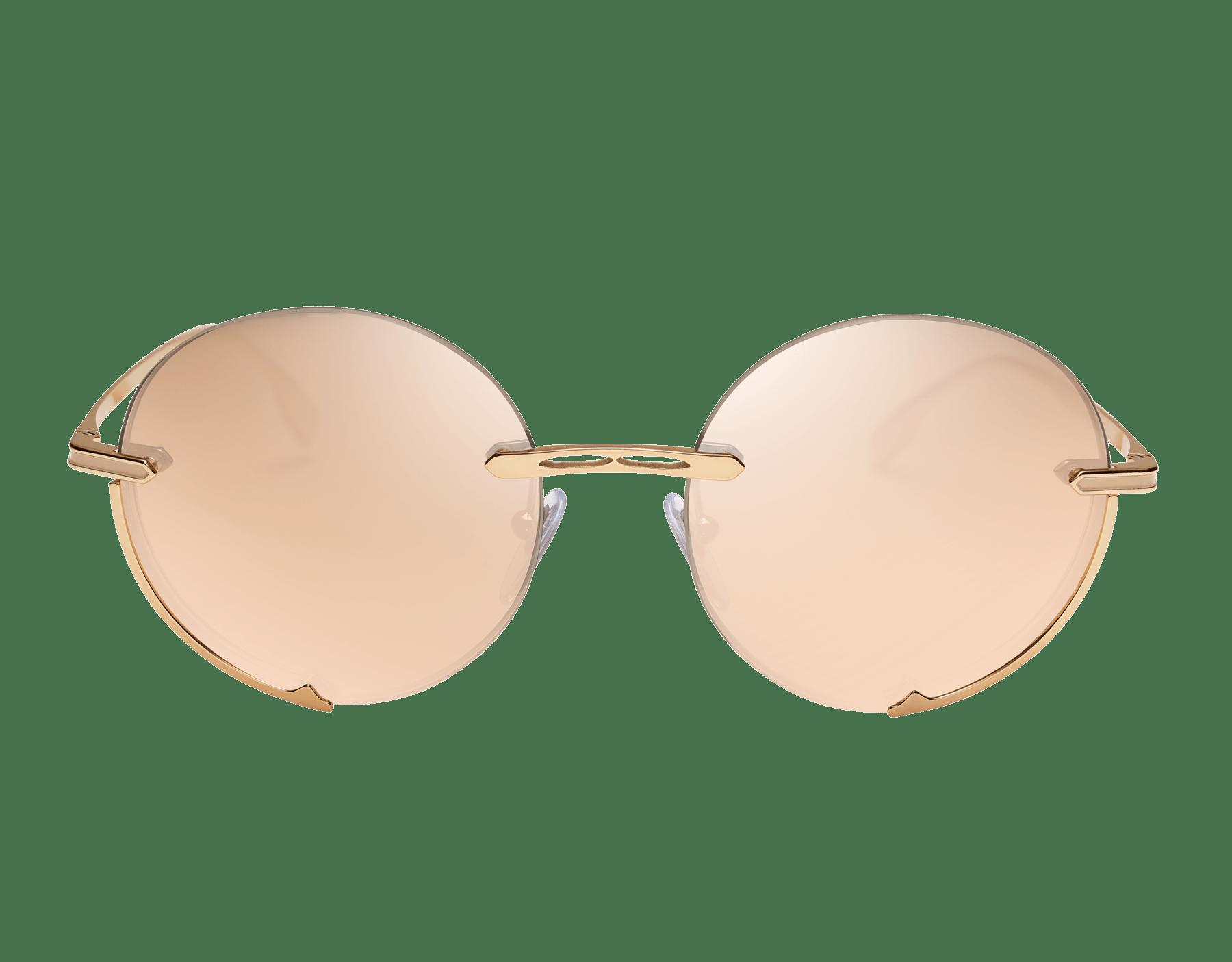 "Bvlgari B.zero1 ""Logo Embrace"" metal round sunglasses. Bzero1logoembrace image 2"