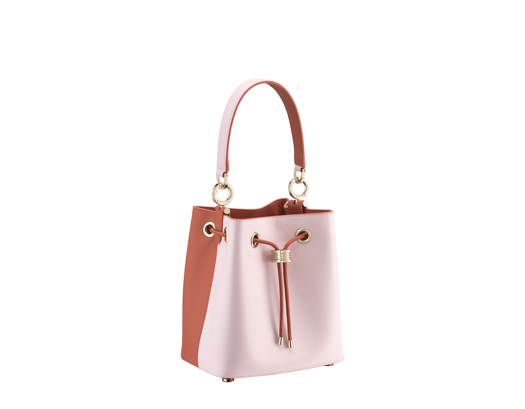 Bucket B.zero1 in rosa di francia and imperial topaz smooth calf leather and imperial topaz nappa inner lining. Hardware in light gold plated brass, featuring B.zero1 décor. 288951 image 2