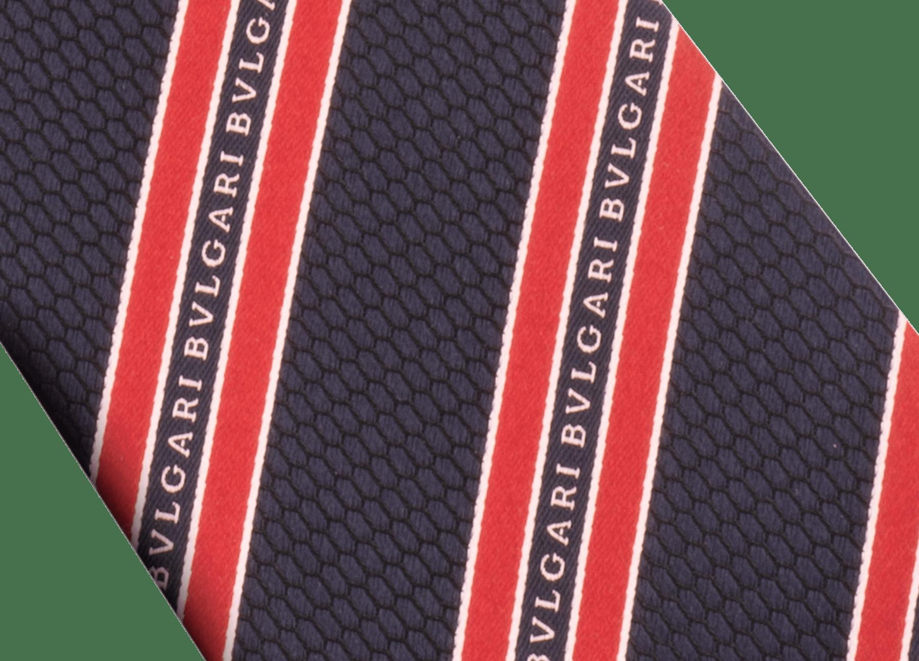 Pink RegiScales Logo pattern seven-fold tie in fine jacquard silk. LogoRegiScales image 2