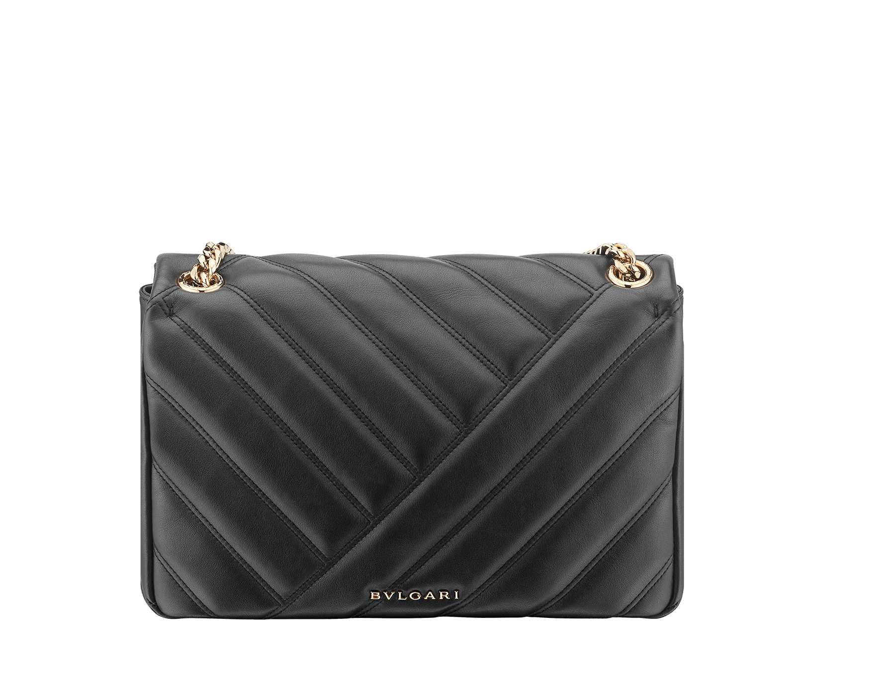 Serpenti Cabochon shoulder bag in soft matelassé white agate nappa leather with graphic motif and white agate calf leather. Snakehead closure in rose gold plated brass decorated with matte black and white enamel, and black onyx eyes. 979-NSM image 3