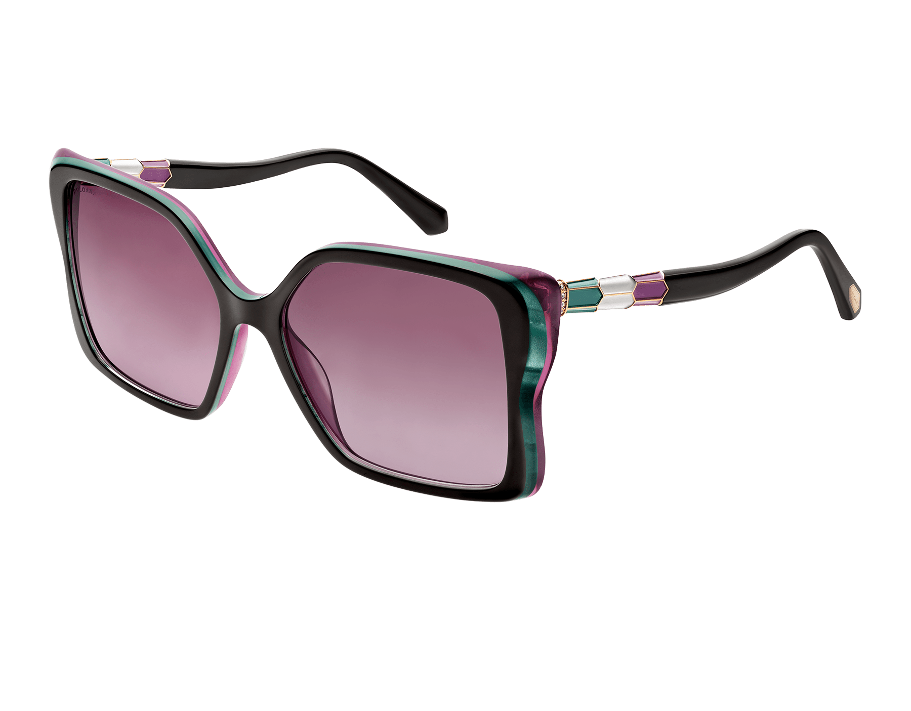 """Serpenti """"Back-to-Scale"""" acetate butterfly sunglasses 904055 image 1"""