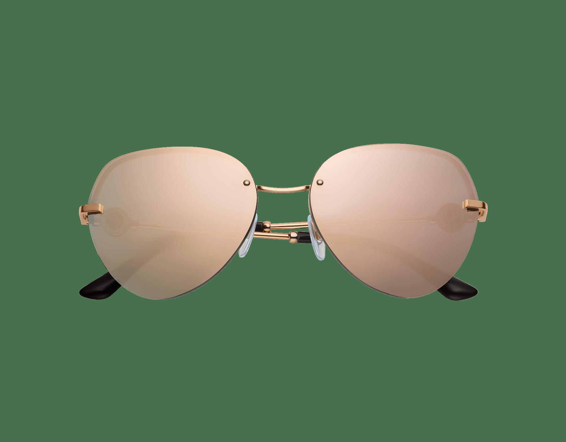 BVLGARI BVLGARI semi-rimless aviator sunglasses. 903540 image 2
