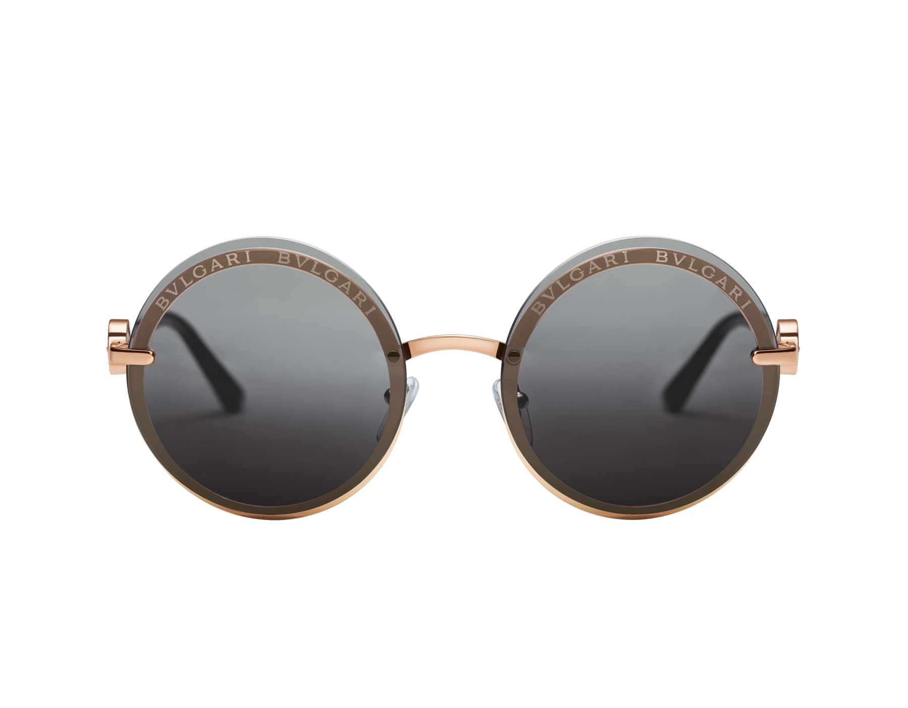 "Bvlgari Bvlgari ""On-Me"" round metal sunglasses. 904040 image 2"