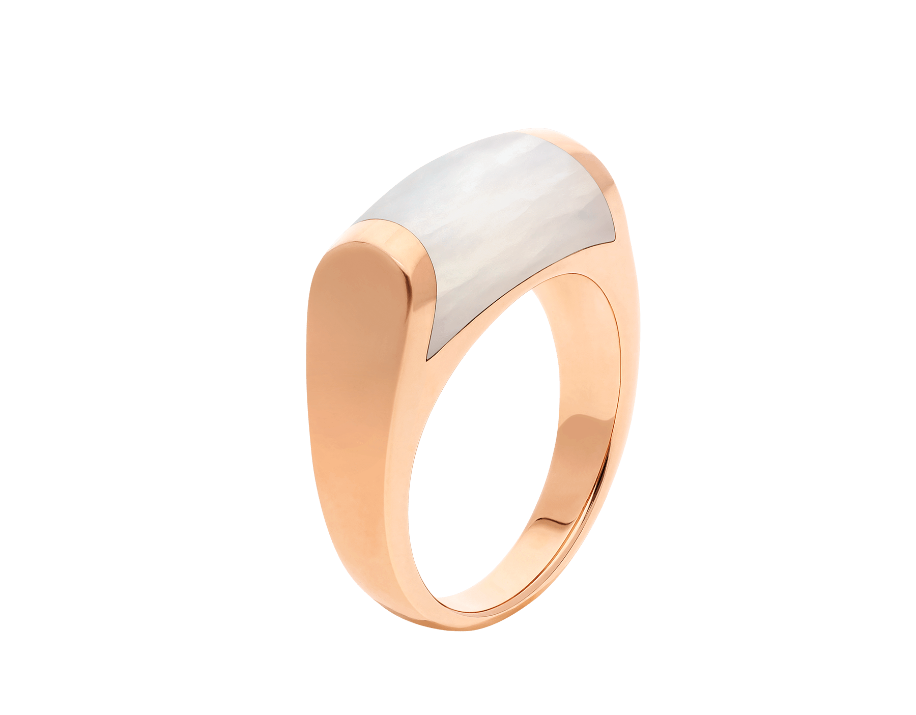 MVSA ring in 18 kt rose gold, set with a mother-of-pearl. AN857860 image 1