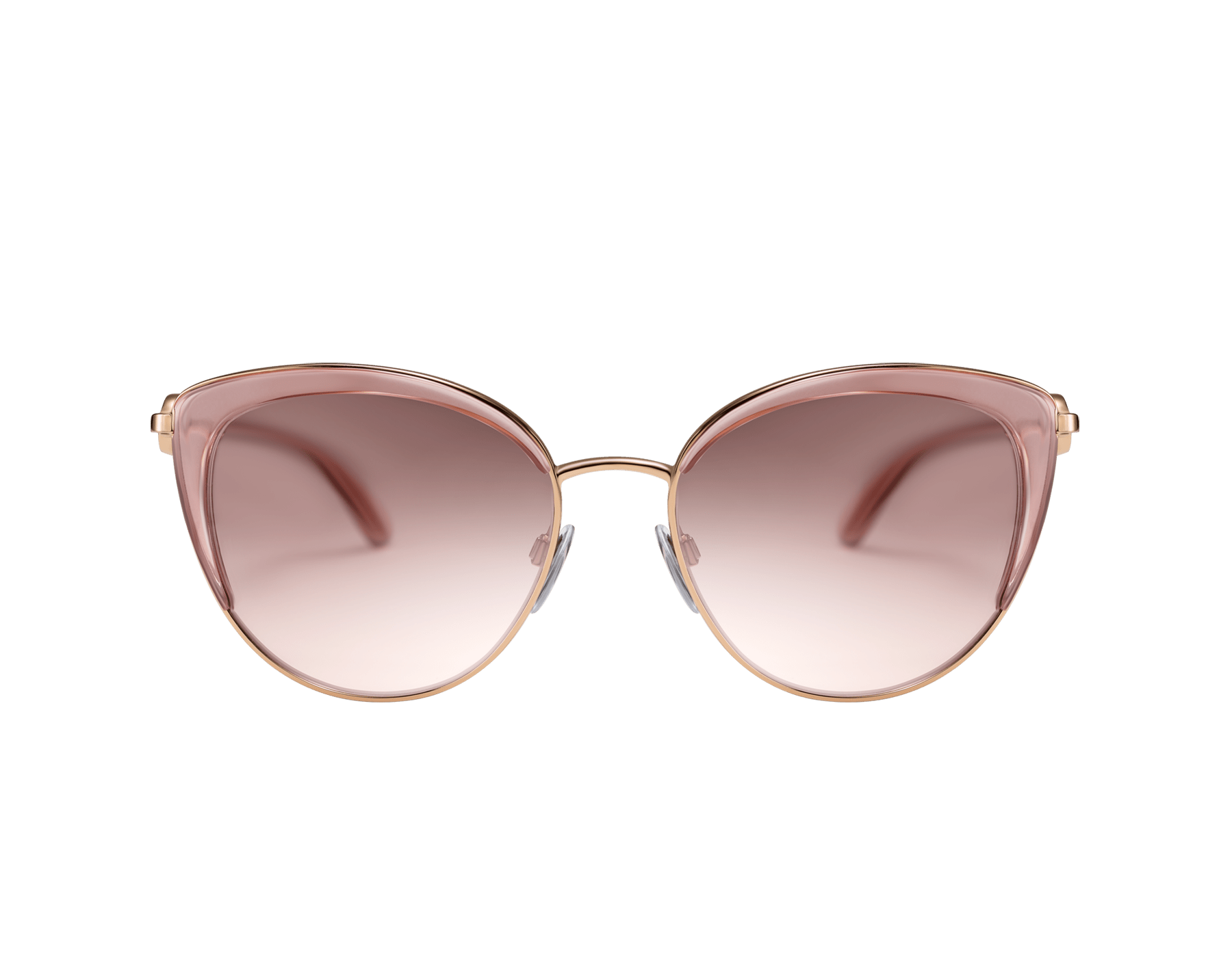 BVLGARI BVLGARI soft cat-eye metal sunglasses featuring a round décor with double logo. 903915 image 2