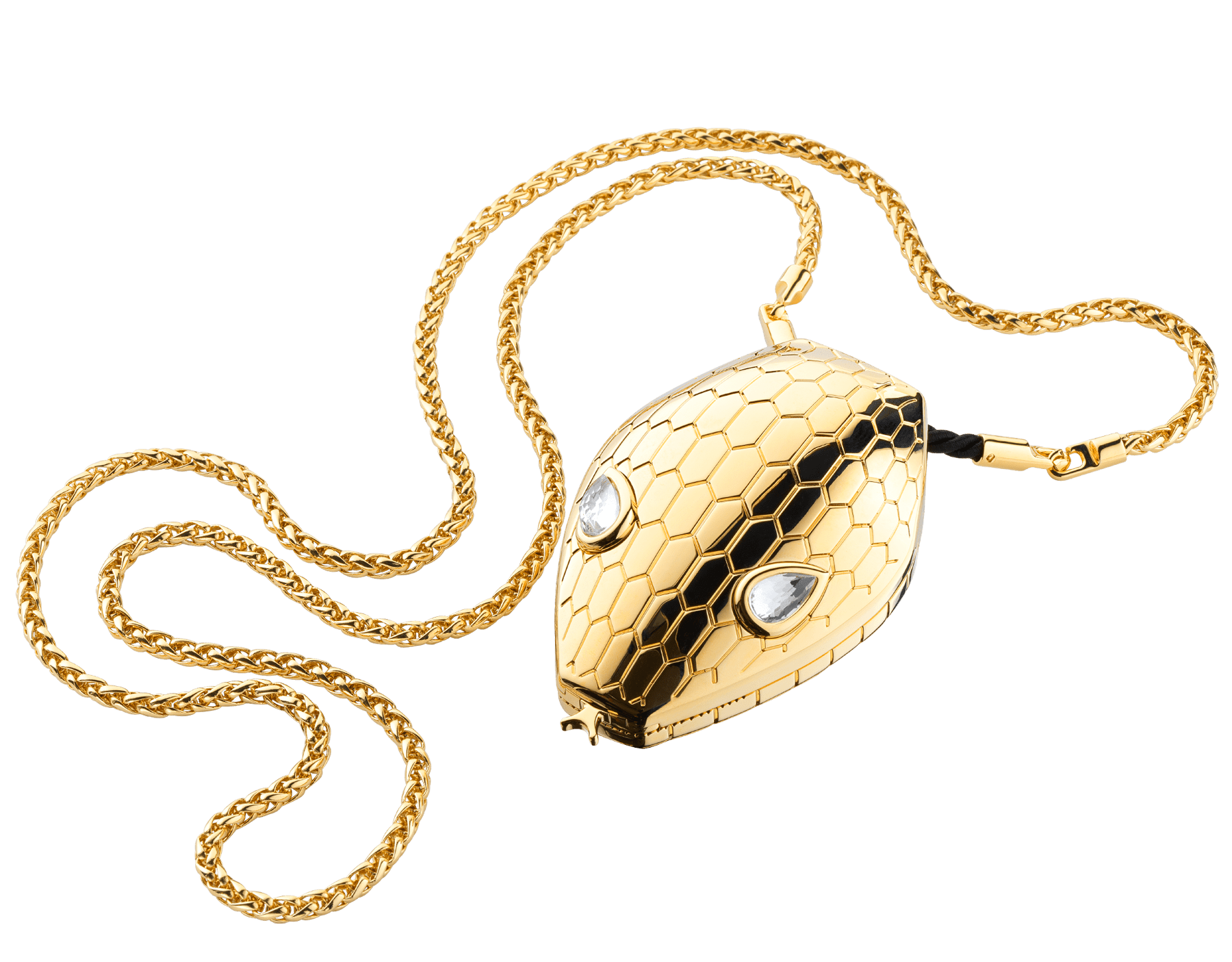 """""""Mary Katrantzou x Bvlgari"""" minaudière in gold-plated brass, finished with seductive crystal eyes. Special Edition. MK-1158 image 1"""