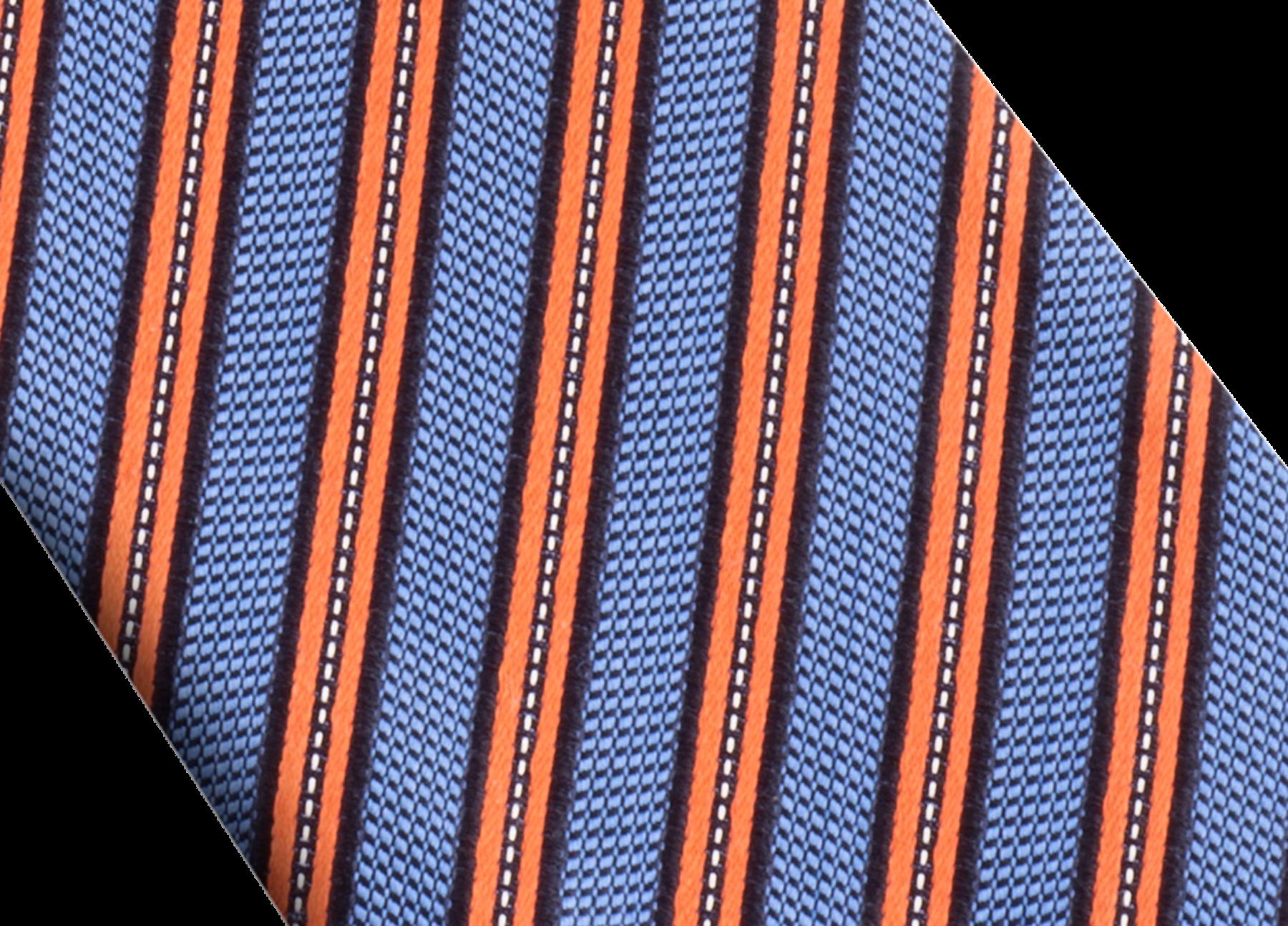 「Double Logo」柄があしらわれたオレンジのタイ。上質なシルク製。 244136 image 2