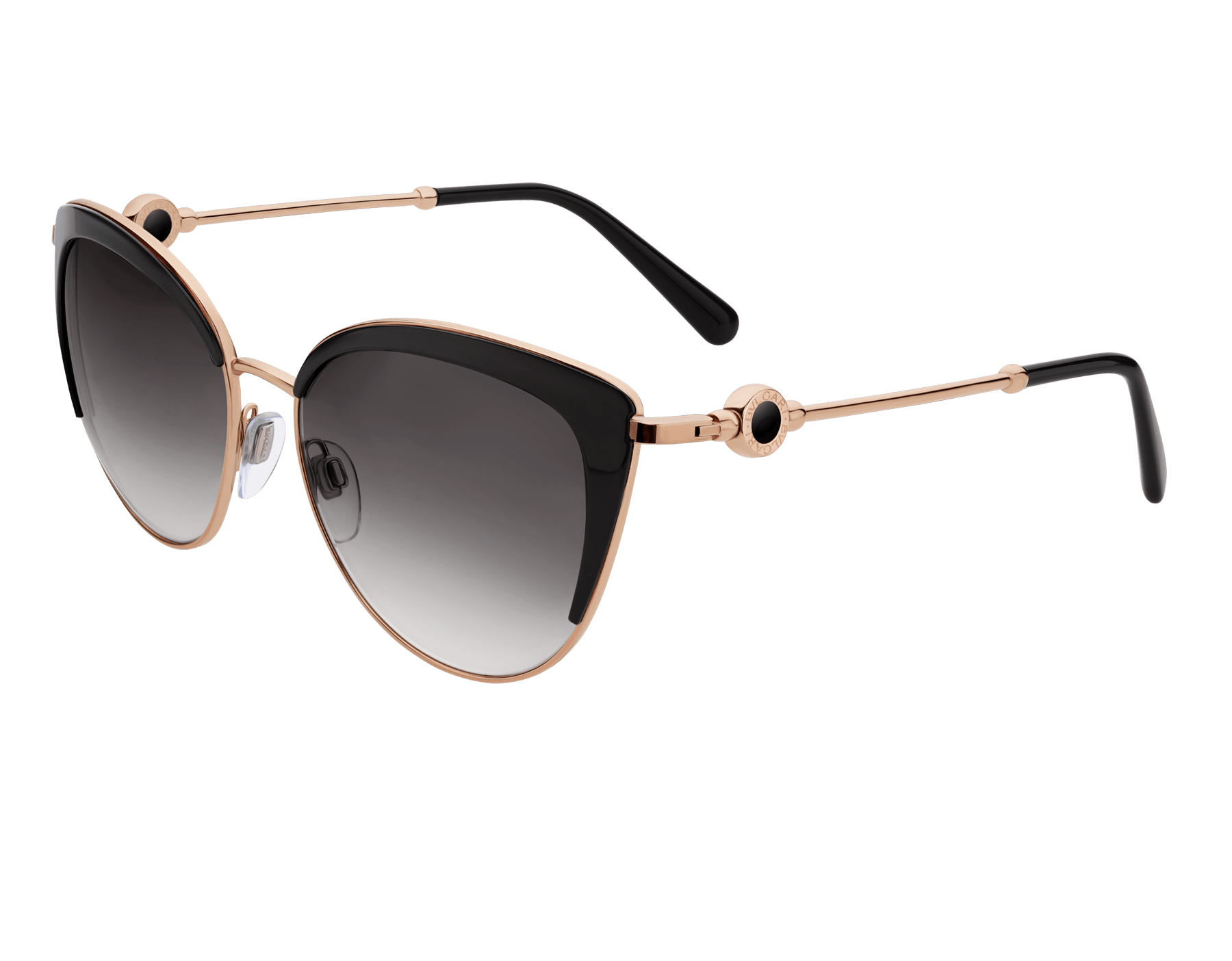 BVLGARI BVLGARI soft cat-eye metal sunglasses featuring a round décor with double logo. 903913 image 1