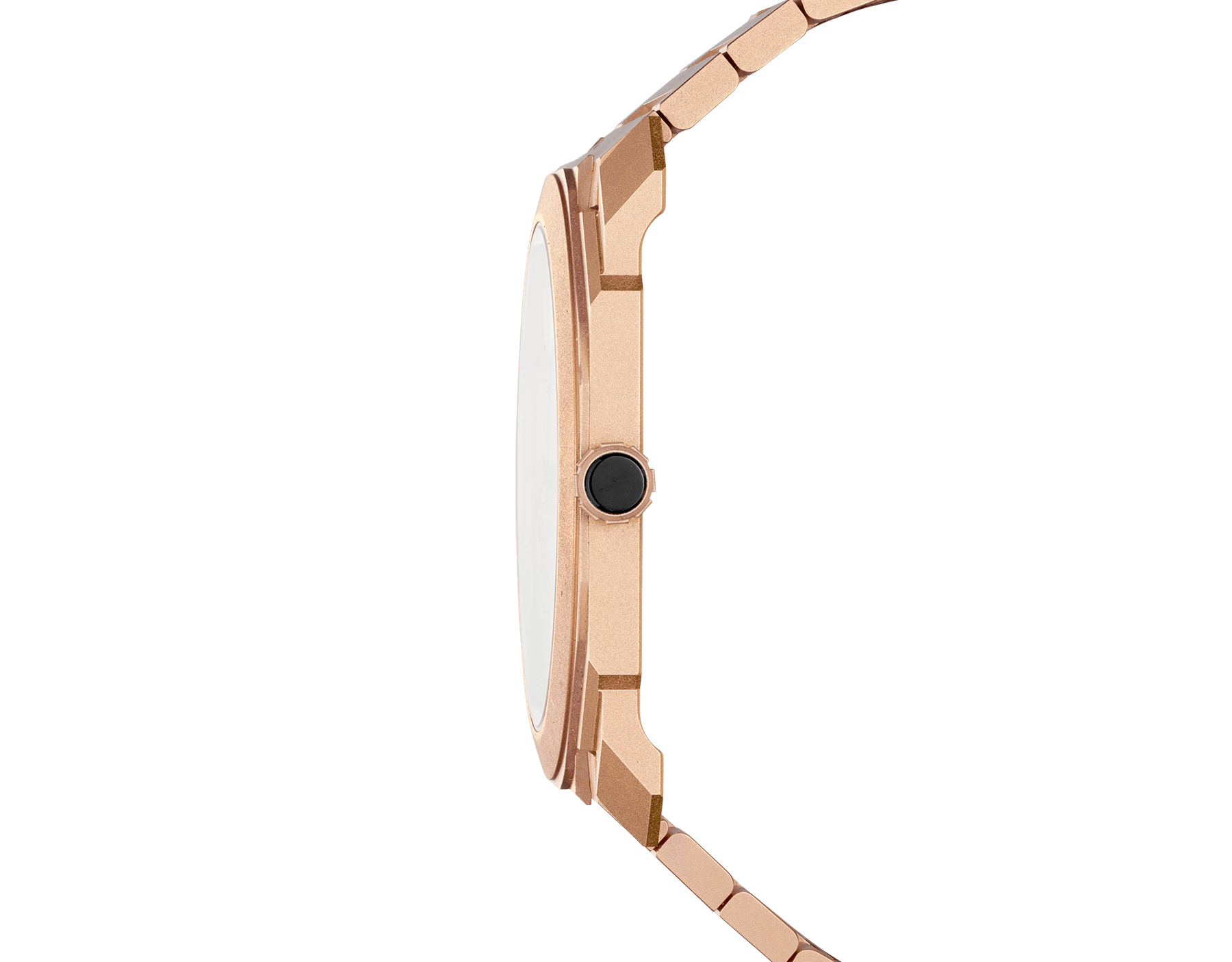 Octo Finissimo Automatic watch with mechanical manufacture movement, automatic winding, platinum microrotor, small seconds, extra-thin sandblasted 18 kt rose gold case and bracelet, and 18 kt rose gold dial 102912 image 3