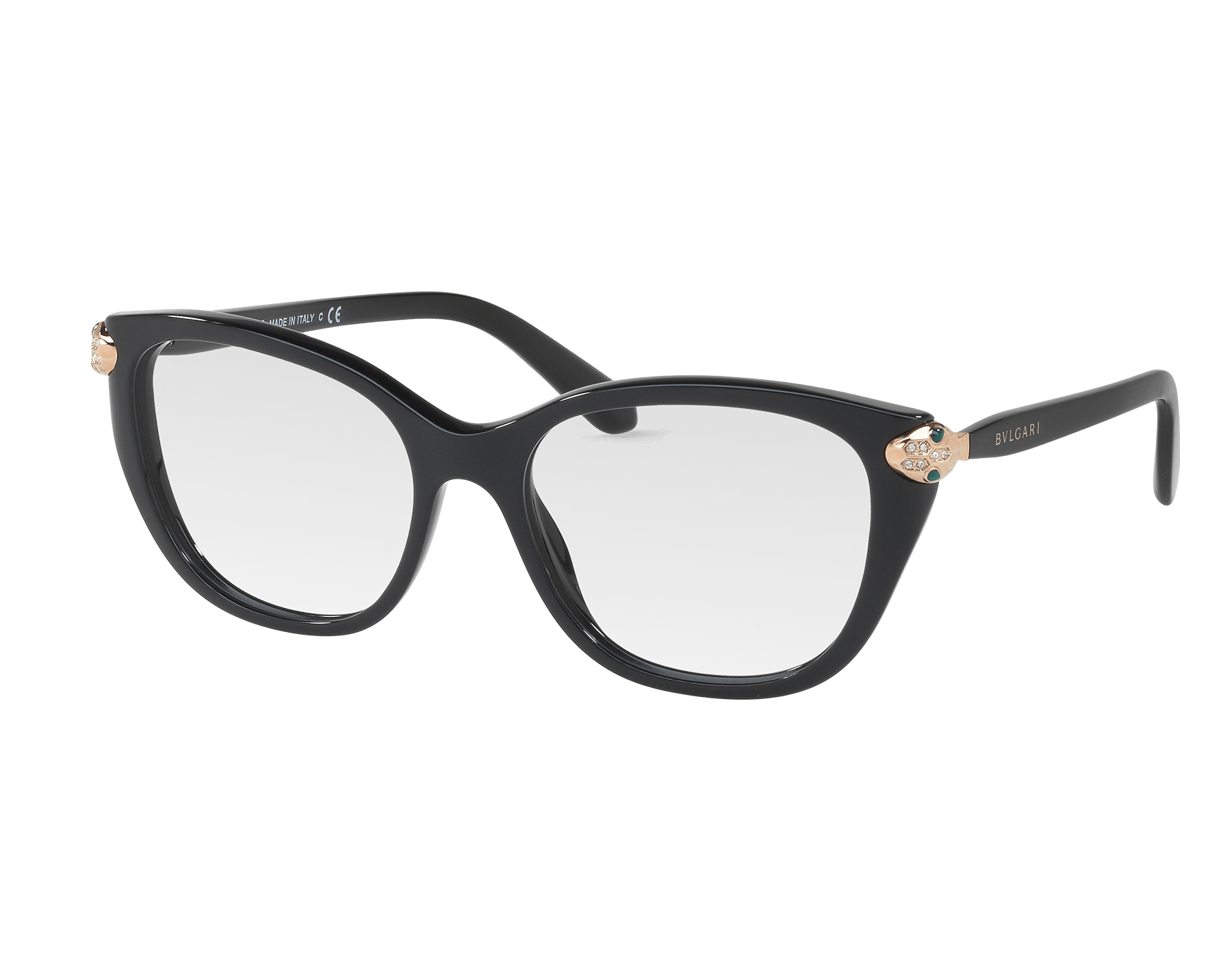 Serpenti 柔美貓眼醋酸纖維太陽眼鏡,飾以琺瑯和水晶。 903366 image 1