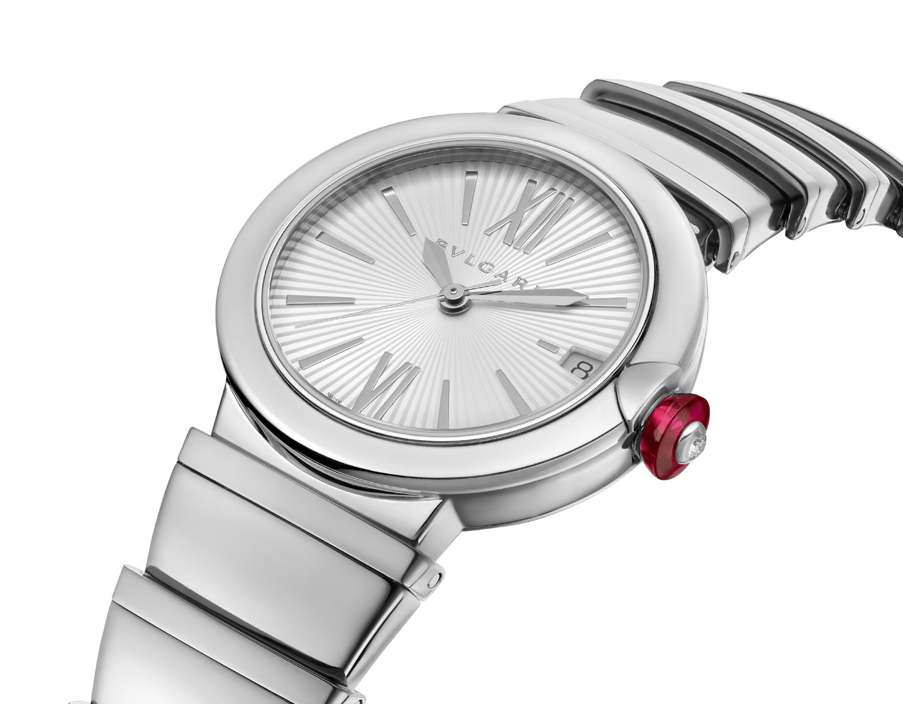 LVCEA watch in stainless steel case and bracelet, with silver opaline dial. 102219 image 2
