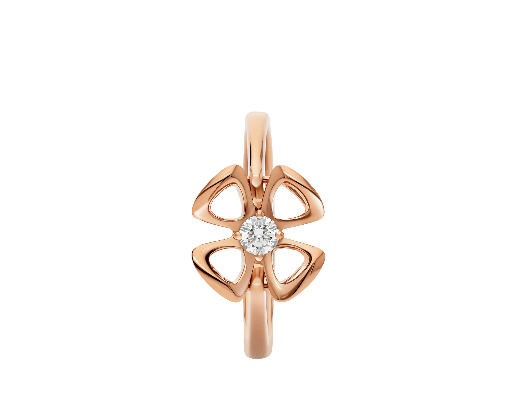 Fiorever 18 kt rose gold ring set with a central diamond. AN858438 image 2