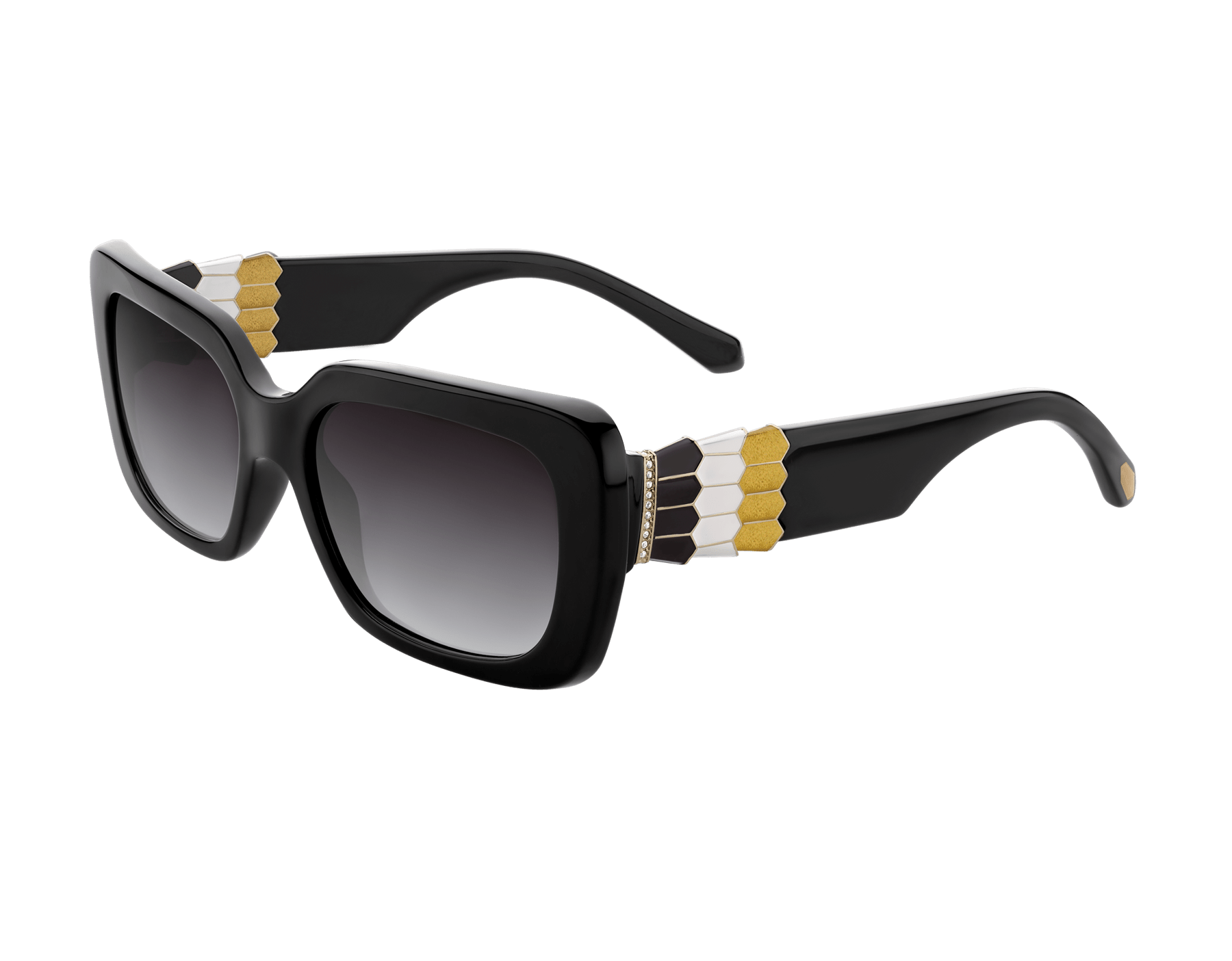 Bulgari Serpenti Back-to-scale rectangular acetate sunglasses. 903947 image 1