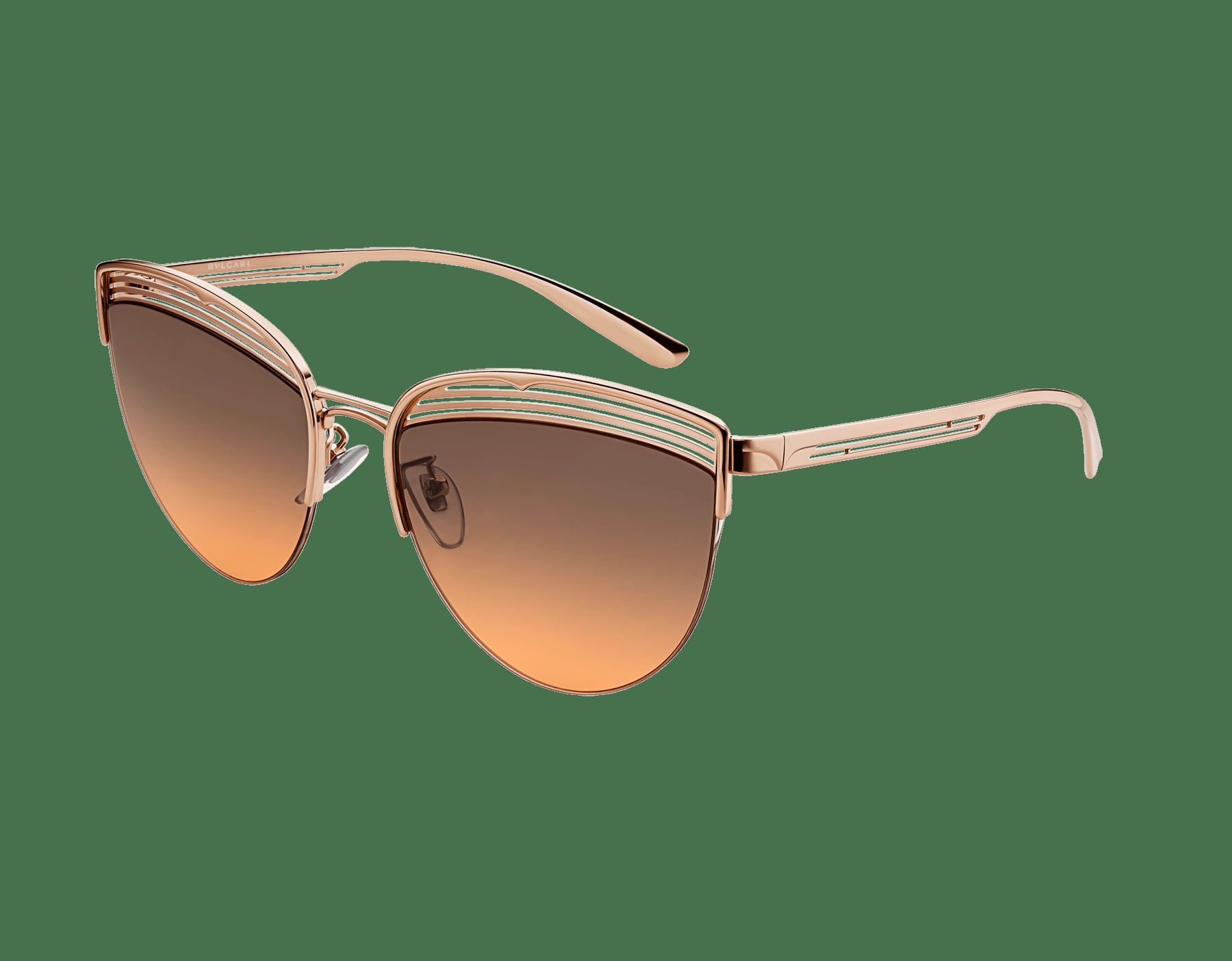 Bvlgari B.zero1 B.purevibes semi-rimless cat-eye metal sunglasses. 903715 image 1