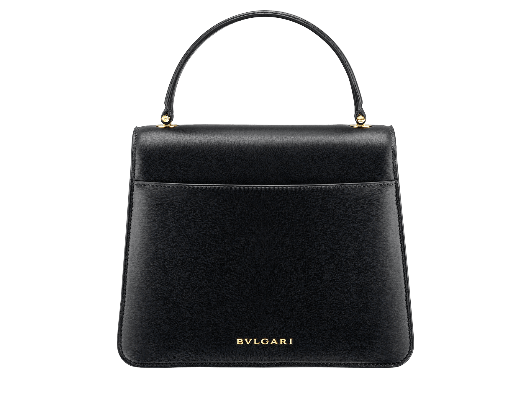 """Mary Katrantzou x Bvlgari"" top handle bag in black nappa leather, with black nappa leather inner lining. New Serpenti head closure in gold-plated brass, finished with seductive crystal eyes. Special Edition. MK-Bejewelled image 3"