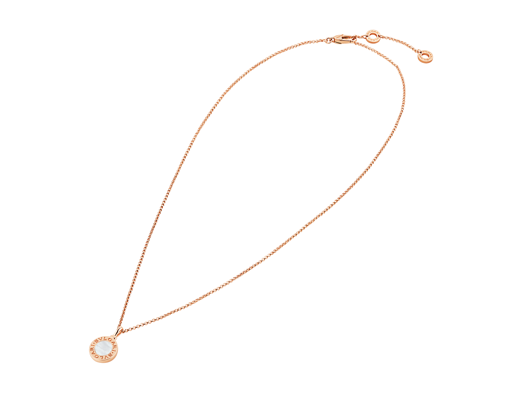 BVLGARI BVLGARI necklace with 18 kt rose gold chain and 18 kt rose gold pendant set with mother-of-pearl elements 350553 image 2