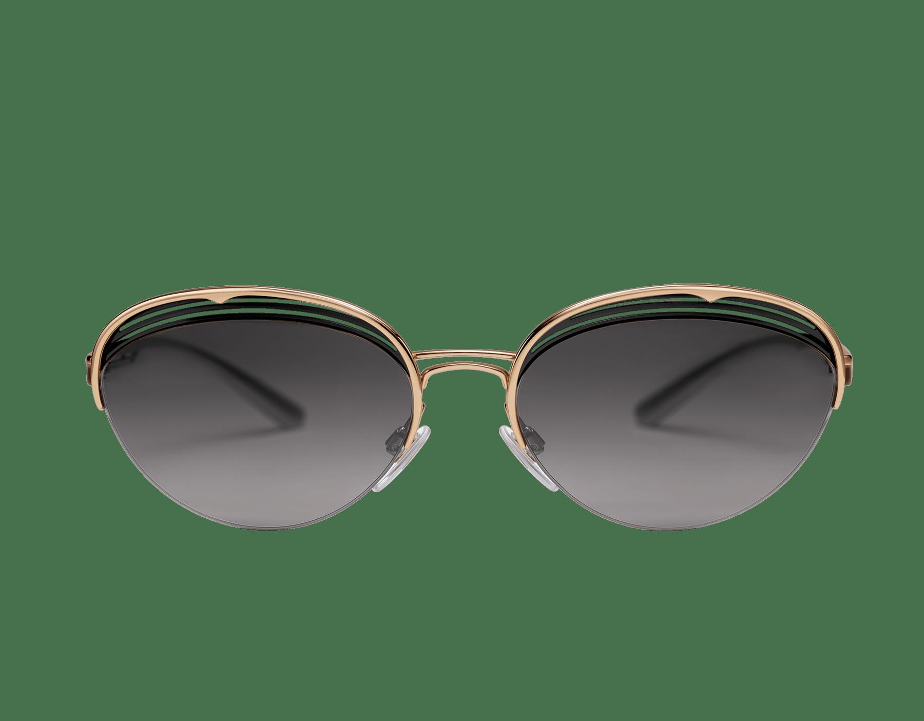 Bulgari B.zero1 B.retrovibe half rim oval metal sunglasses. 903893 image 2
