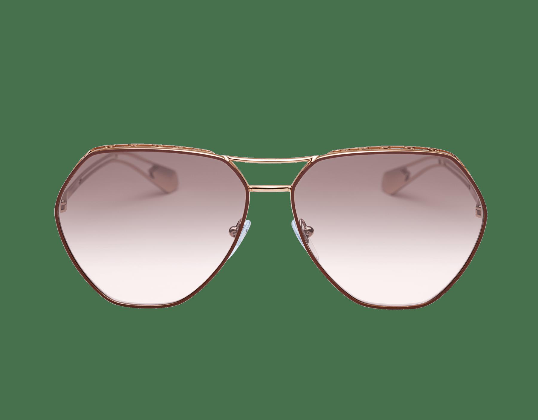 Serpenti 'Freedomation' oversized aviator sunglasses with flat, angular lenses. 903681 image 2