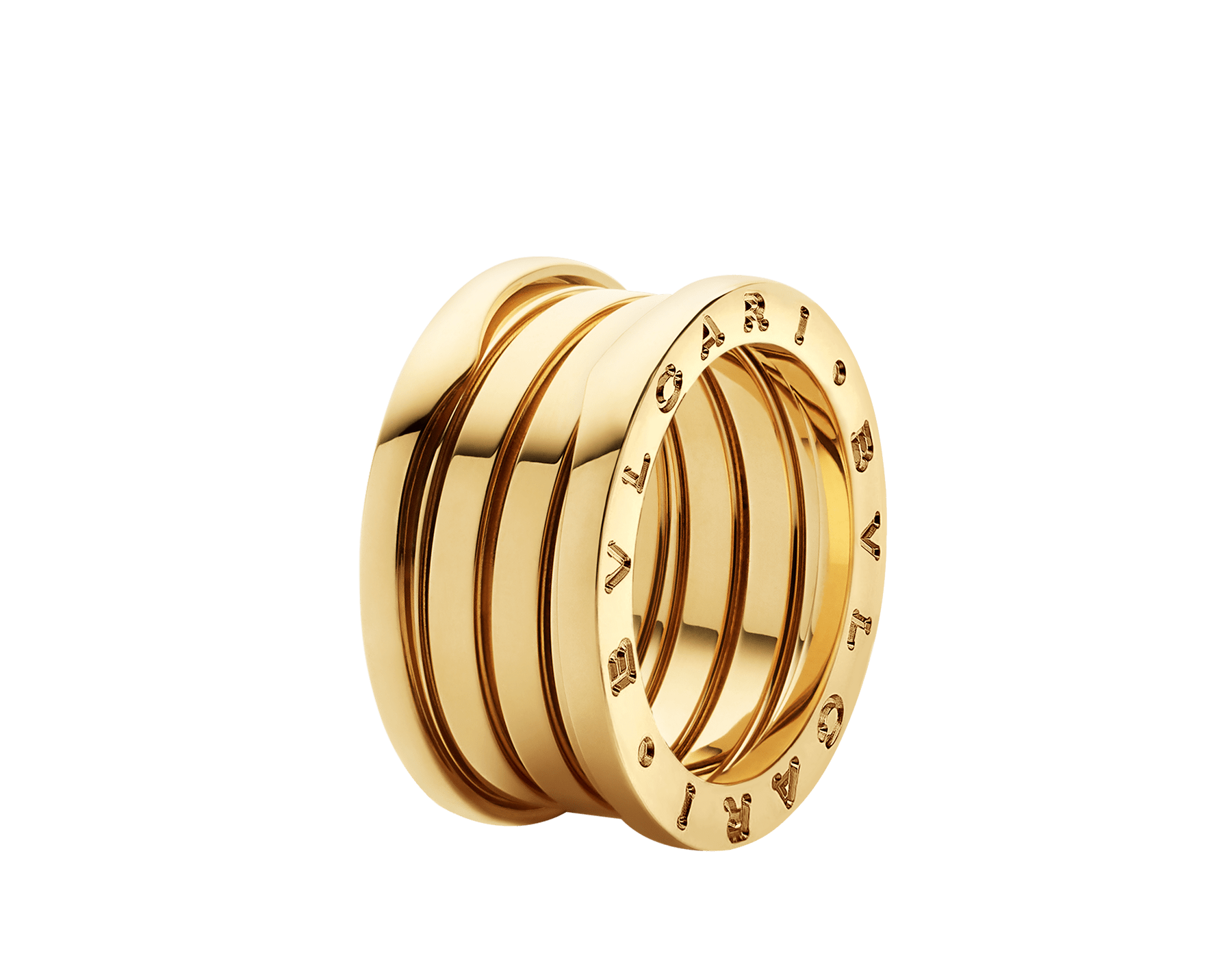 B.zero1 four-band ring in 18 kt yellow gold. B-zero1-4-bands-AN191025 image 1