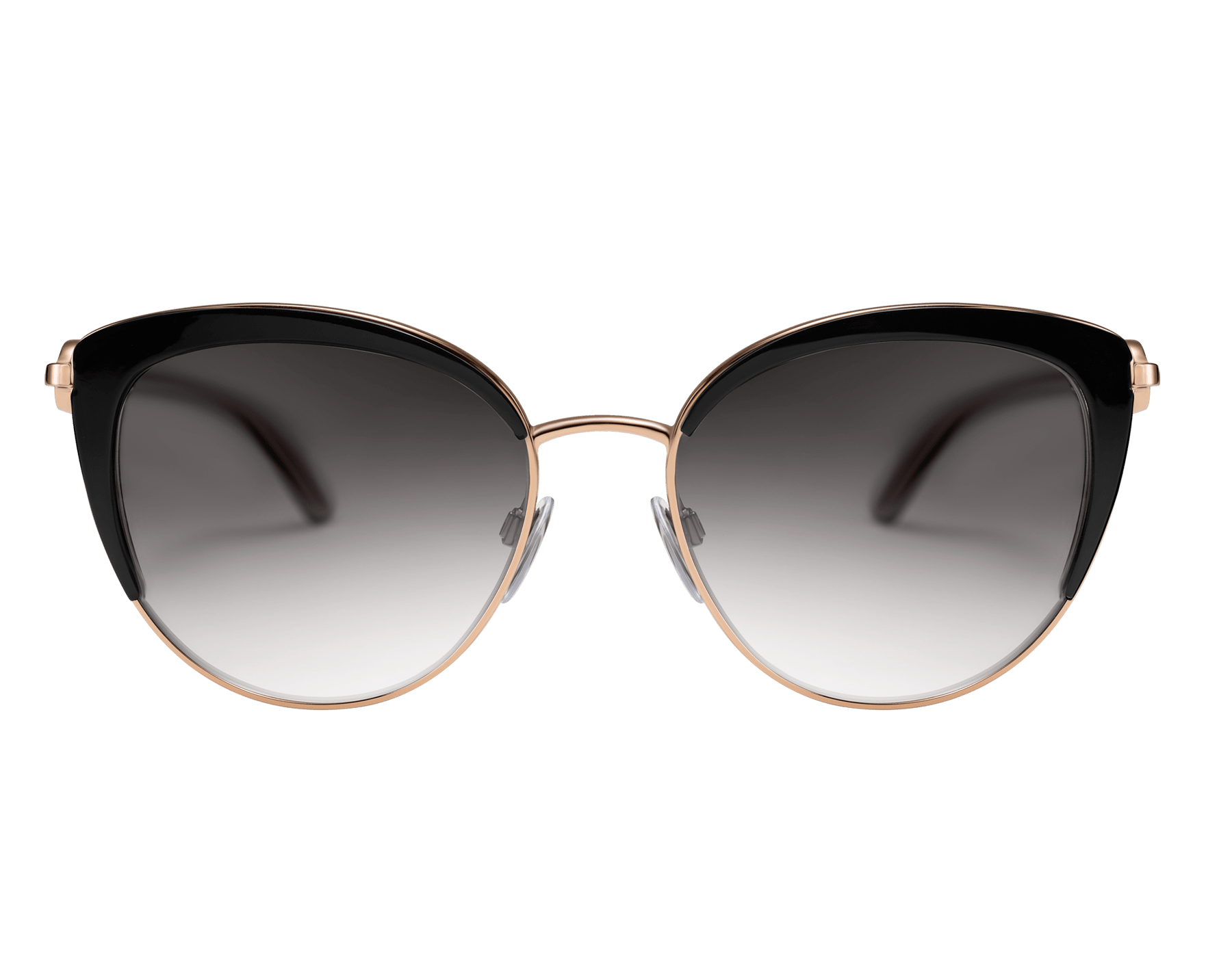 BVLGARI BVLGARI soft cat-eye metal sunglasses featuring a round décor with double logo. 903913 image 2