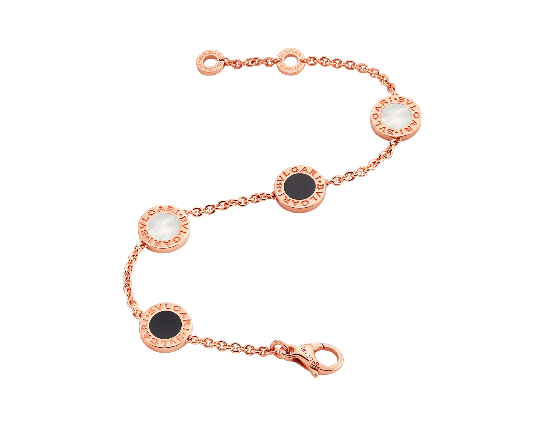 BVLGARI BVLGARI bracelet in 18 kt rose gold set with mother-of-pearl and onyx elements BR857243 image 2