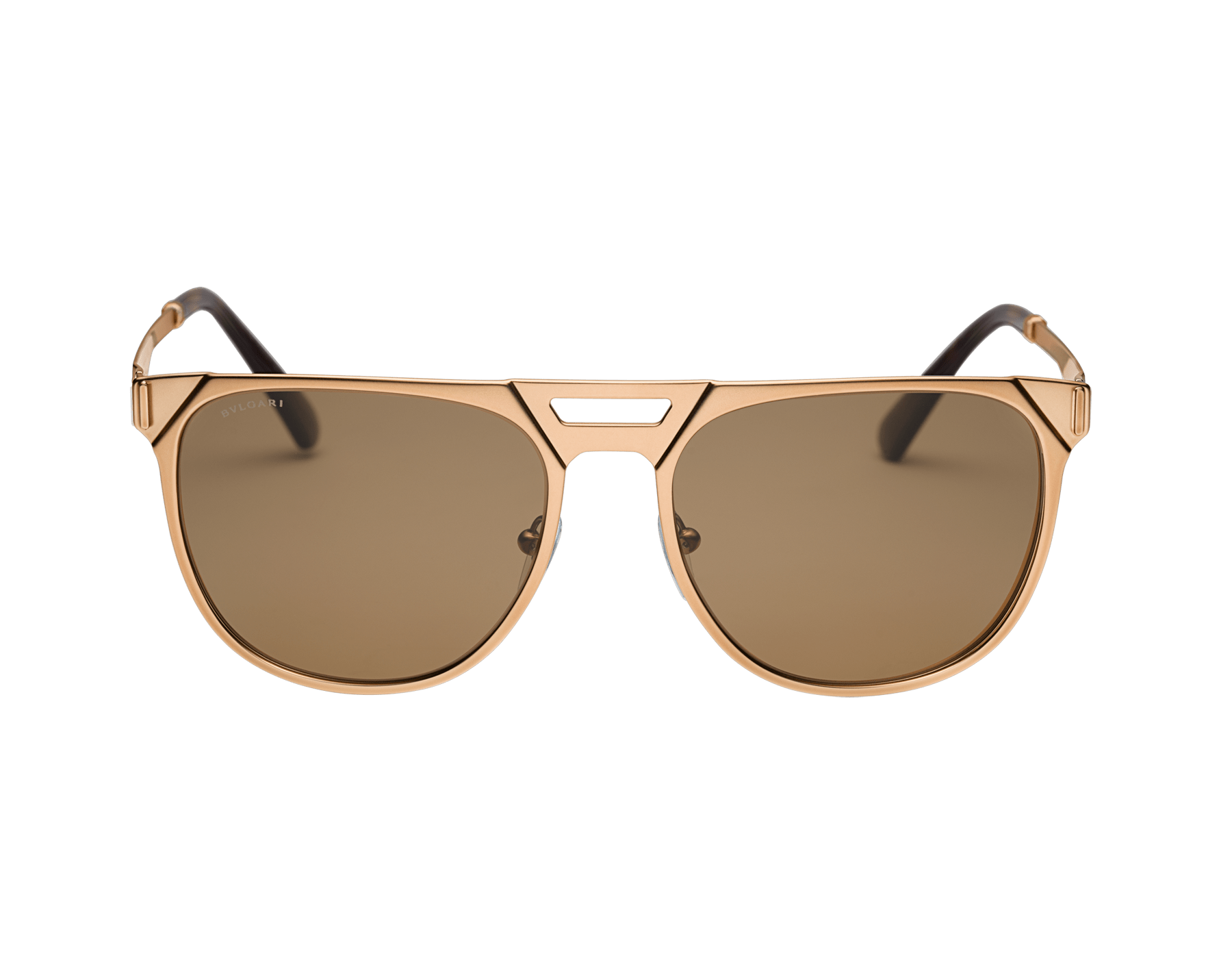 Bvlgari Octo squared pilot gold plated metal sunglasses with polar lenses. 903688 image 2