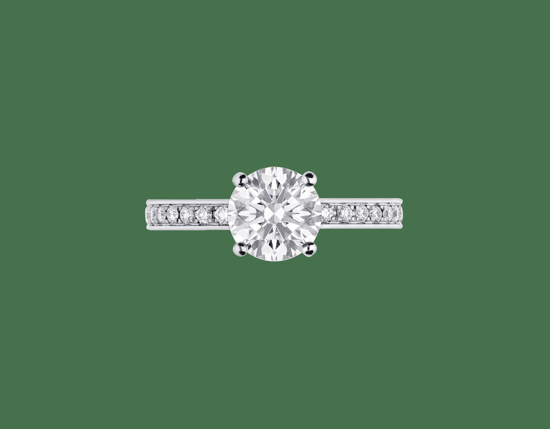 Dedicata a Venezia: solitaire1503 en platine serti d'un diamant rond taille brillant et pavé diamants 343367 image 4
