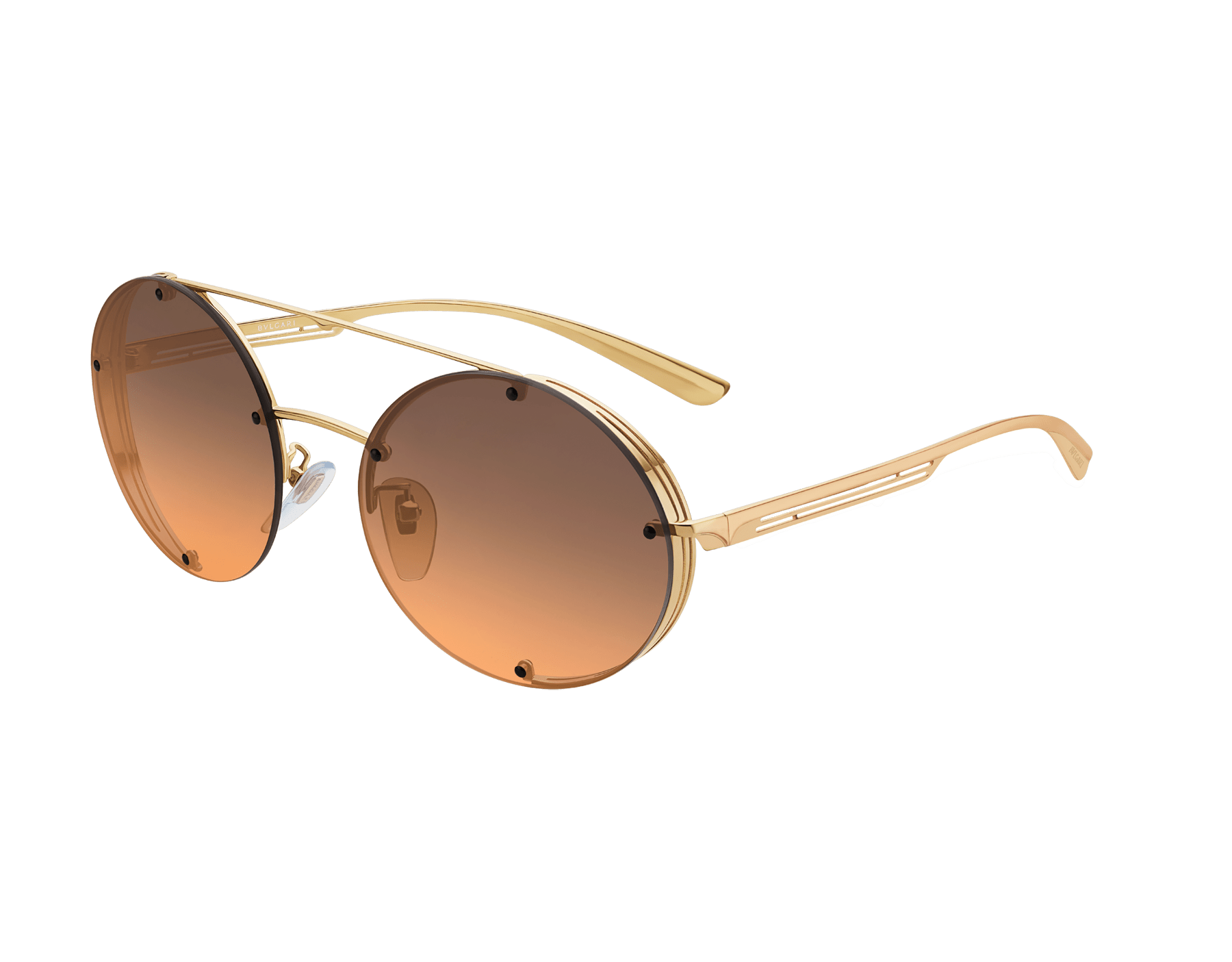 Bvlgari B.zero1 B.flyingstripe round metal aviator sunglasses. 903817 image 1