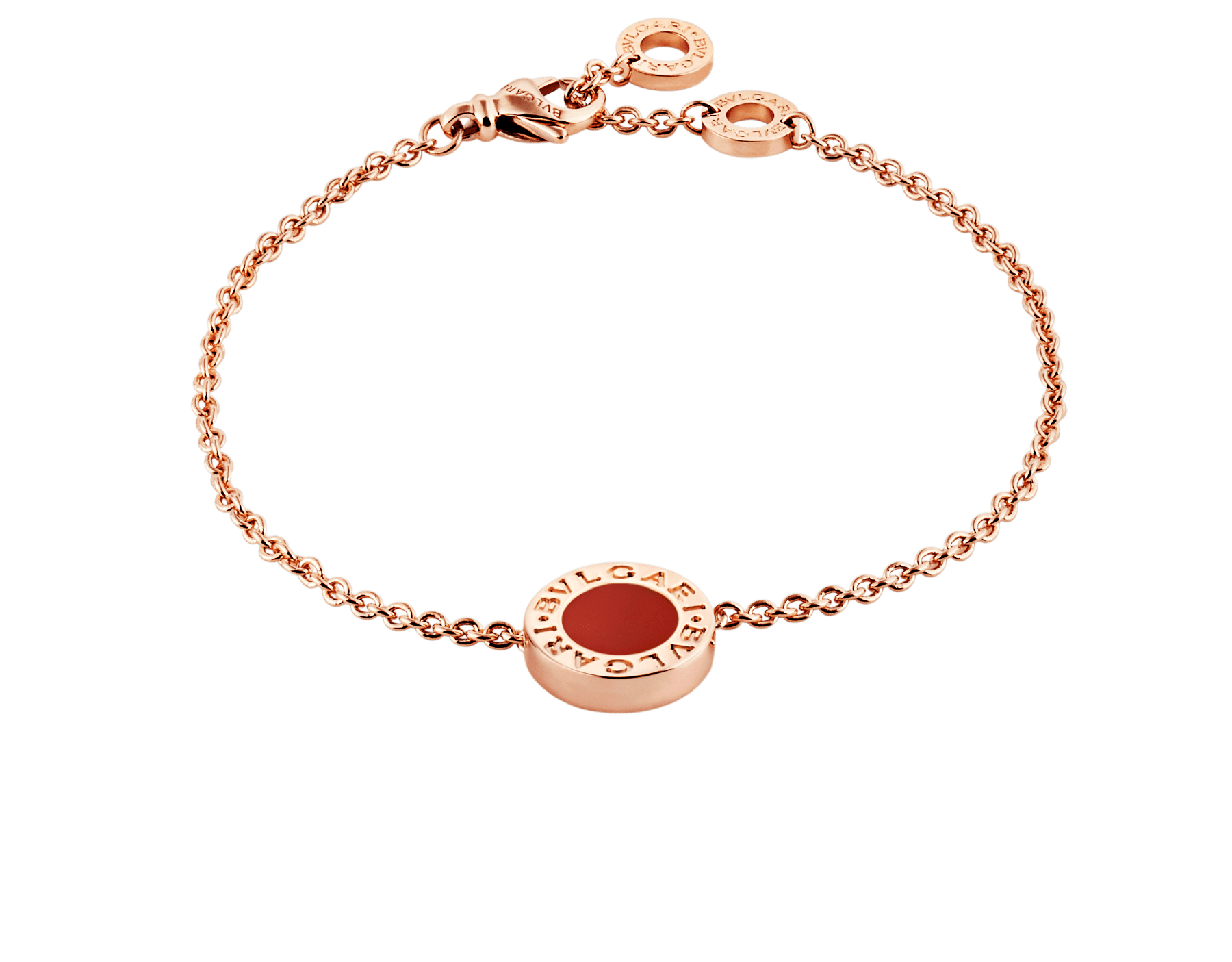 BVLGARI BVLGARI bracelet in 18 kt rose gold set with carnelian and mother-of-pearl round inserts. BR858008 image 1