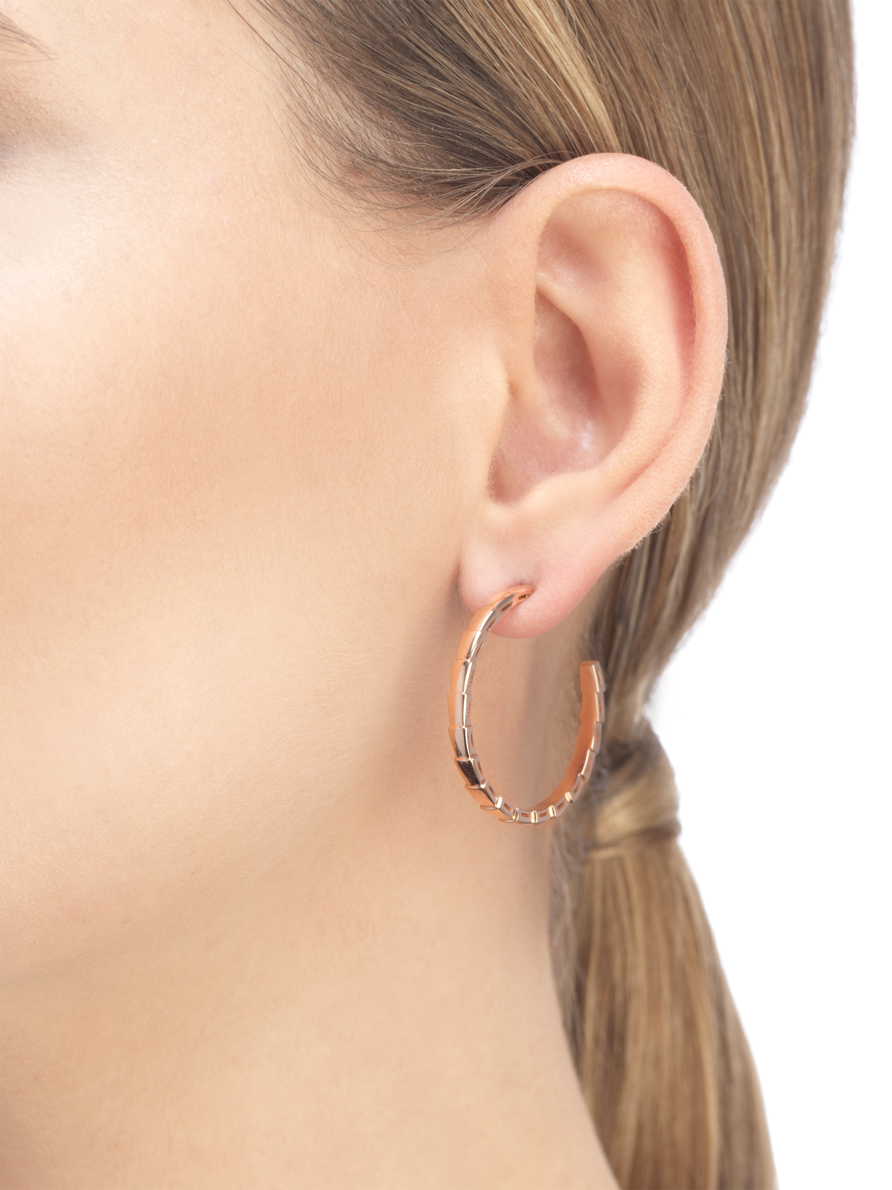 Serpenti Viper 18 kt rose gold earrings 356171 image 3