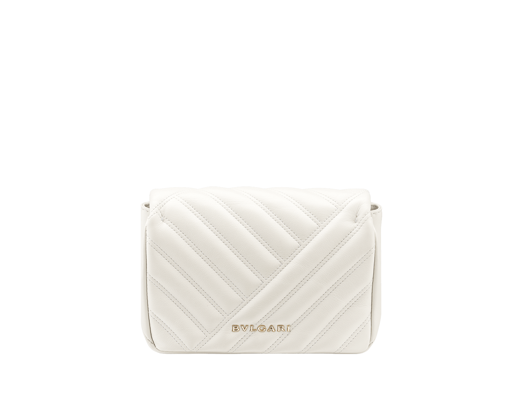 Serpenti Cabochon micro bag in soft matelassé white agate calf leather, with a graphic motif. Brass light gold plated tempting snake head closure in black and white agate enamel and black onyx eyes. 288760 image 3