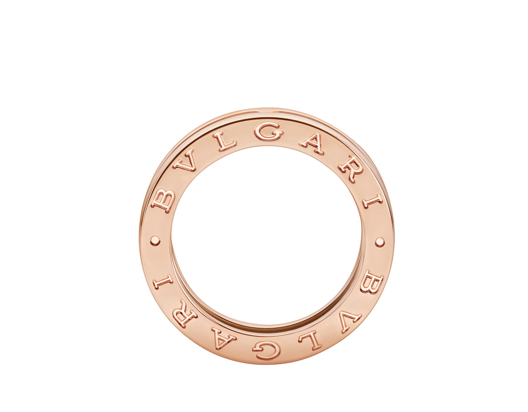 B.zero1 one-band ring in 18 kt rose gold. B-zero1-1-bands-AN852422 image 2