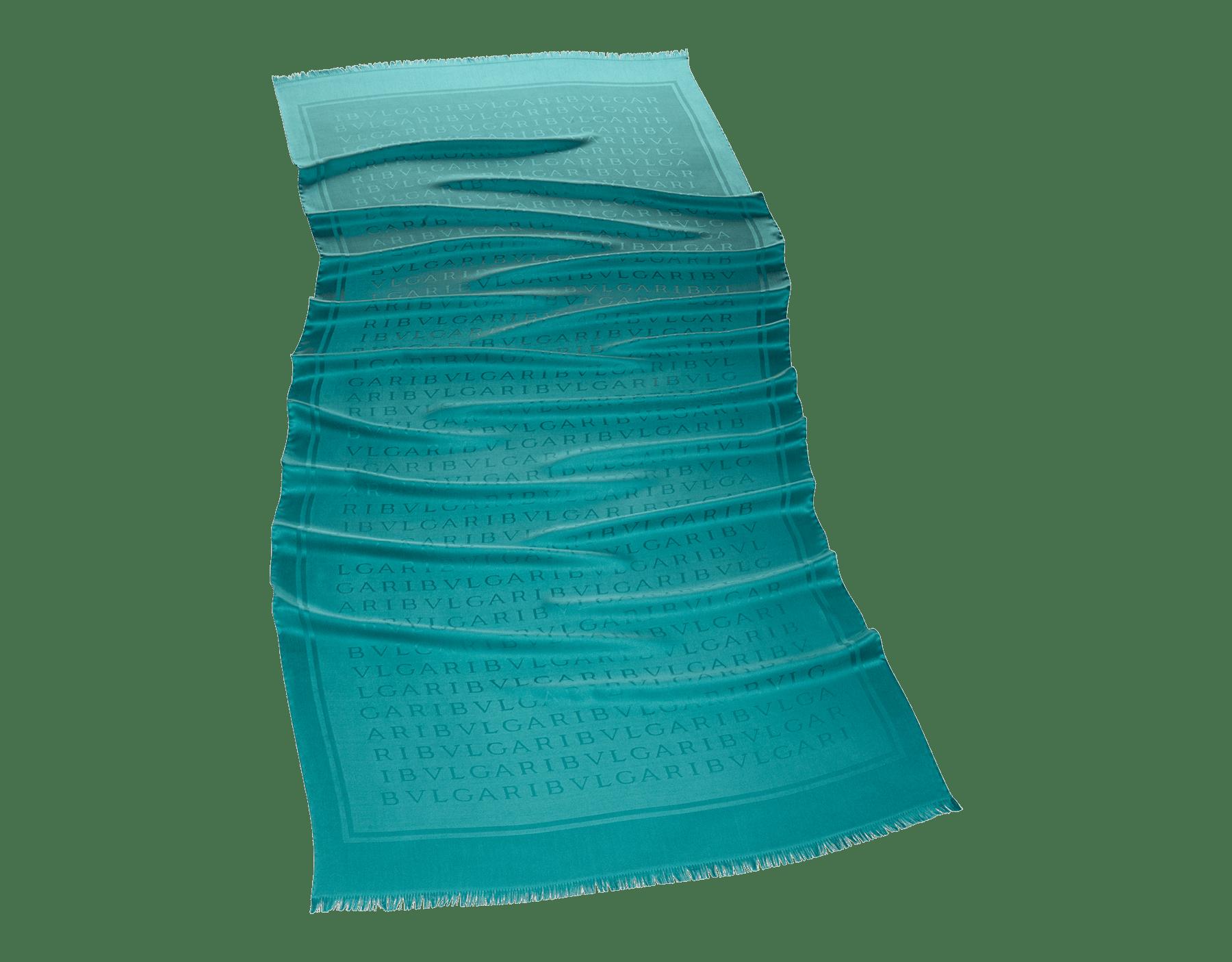 Étole Lettere Maxi Light couleur Arctic Jade en soie fine. 244050 image 2