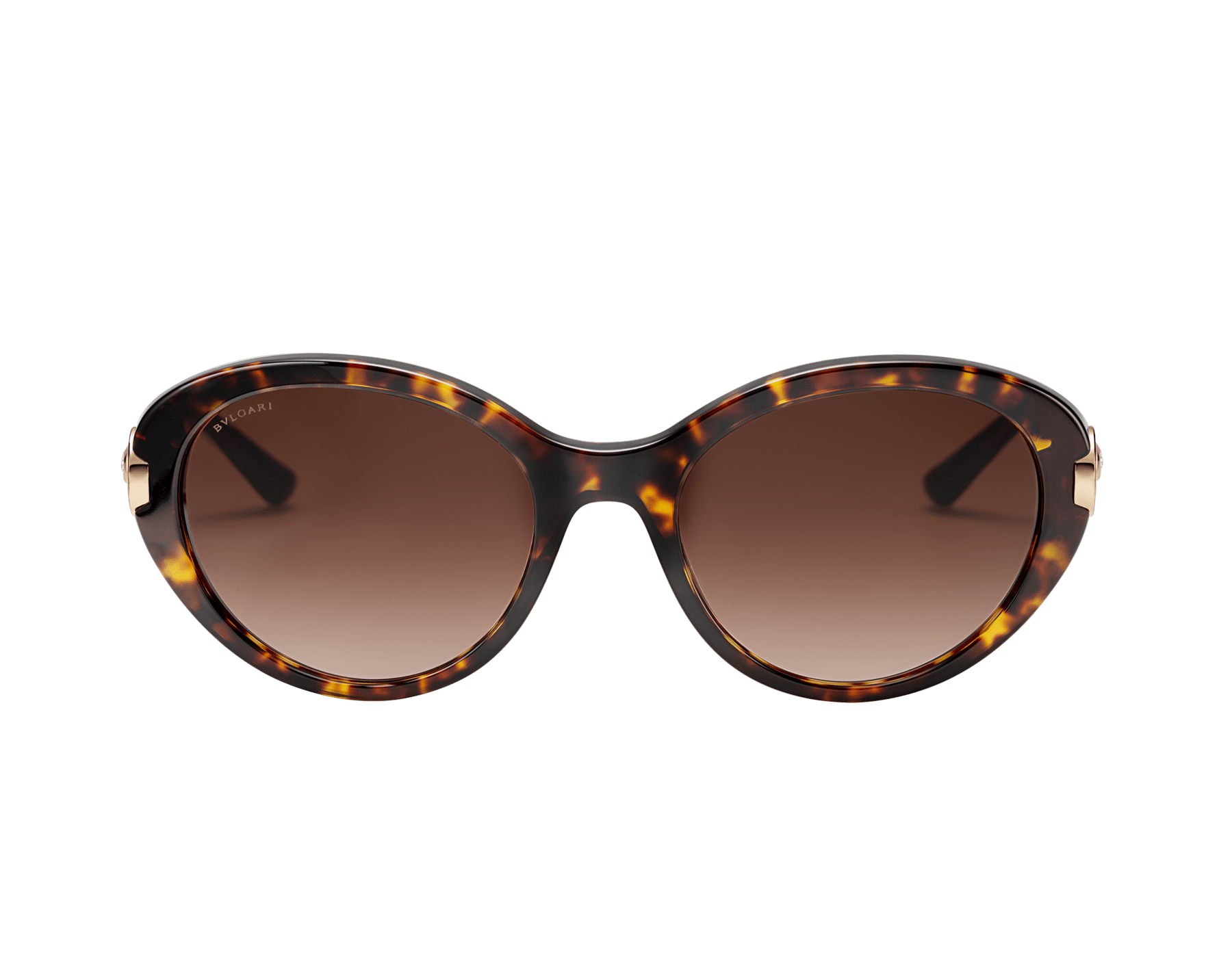 BVLGARI BVLGARI oval acetate sunglasses with metal décor and crystals. 903798 image 2