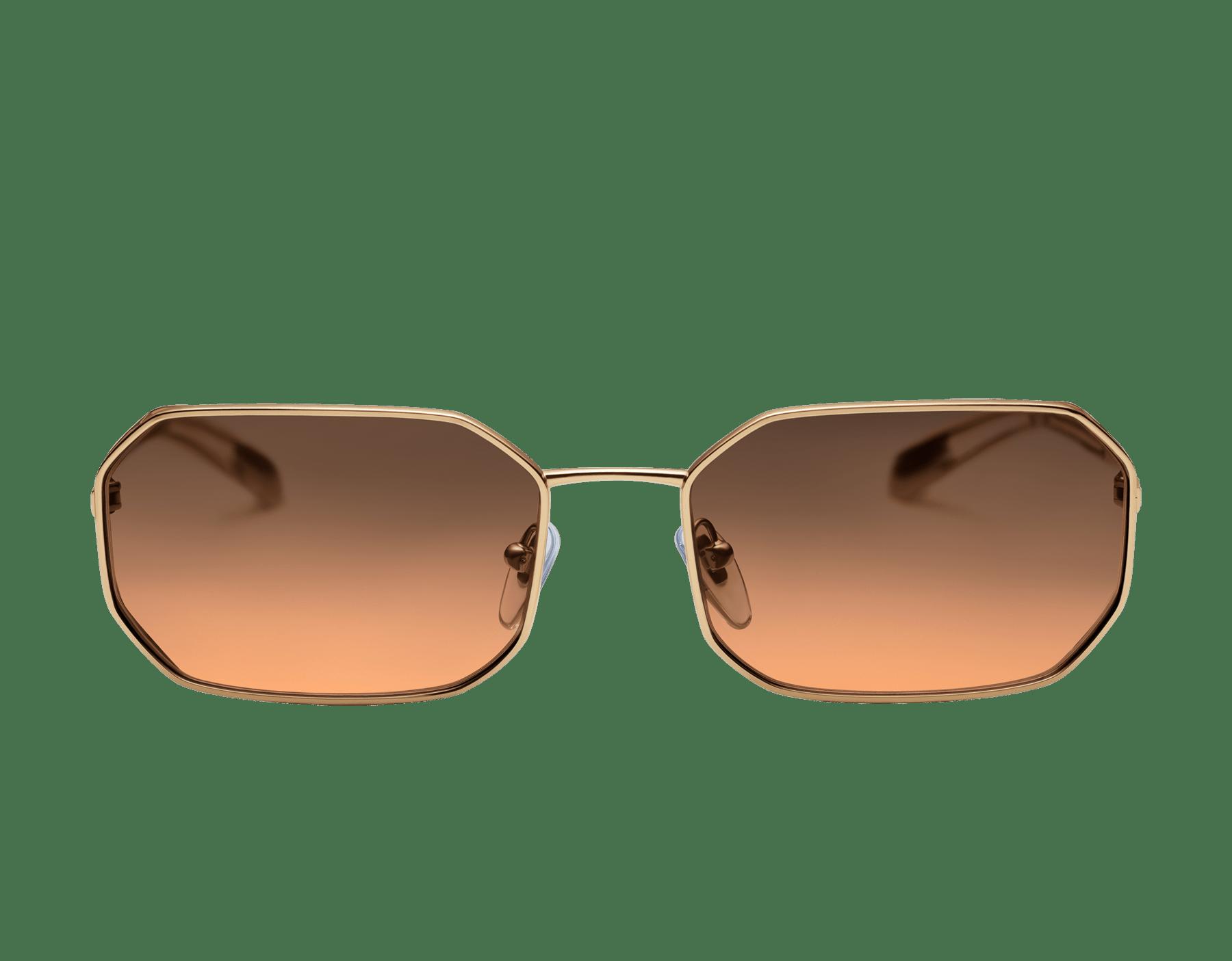 Lunettes de soleil aviateur rectangulaires Bvlgari Serpenti Narrowmation en métal. 903860 image 2
