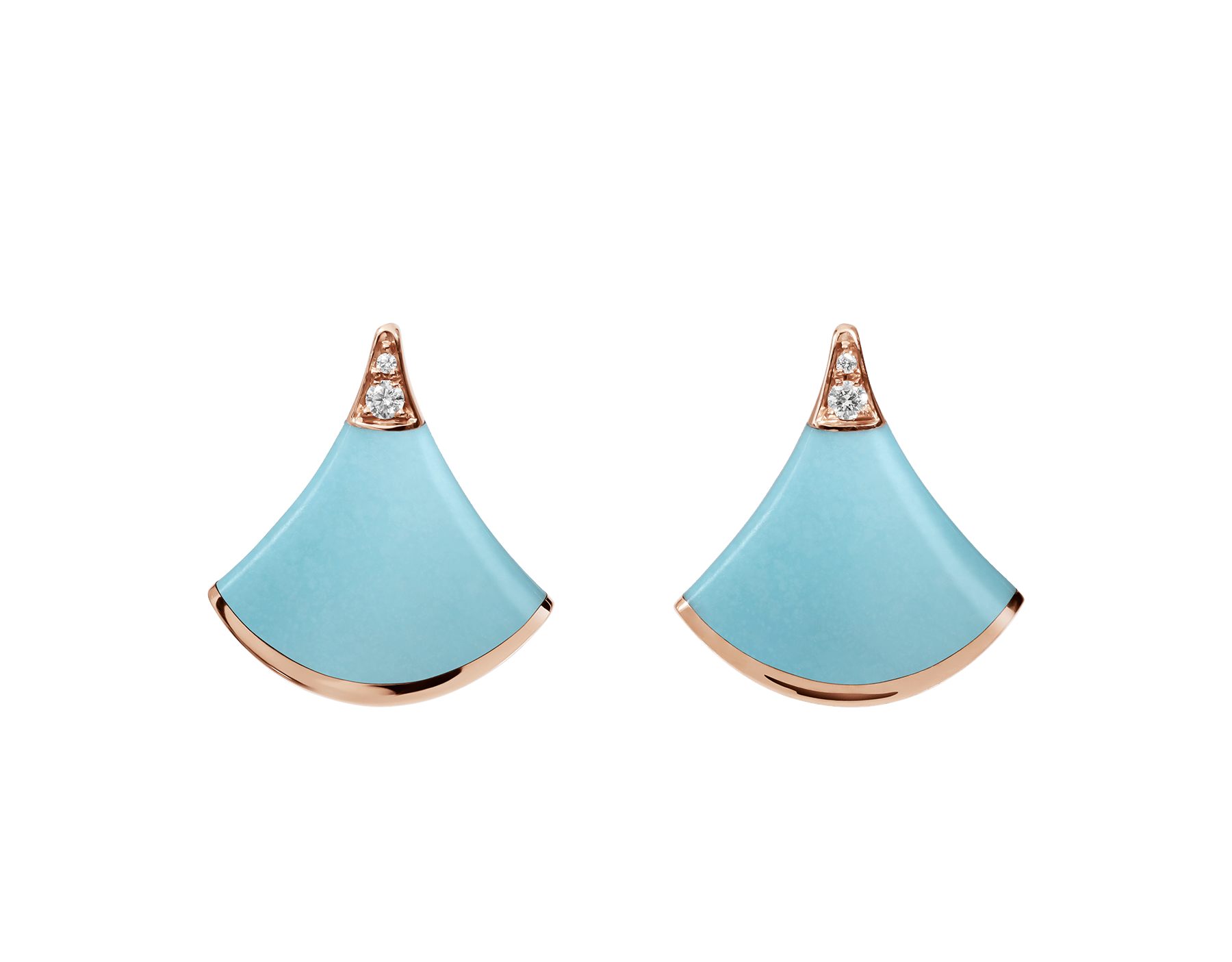 Celebrating both charismatic colours and the essence of feminine beauty, the DIVAS' DREAM earrings shine with the brilliance of turquoise, refined with a delicate diamond sparkle. 353036 image 1