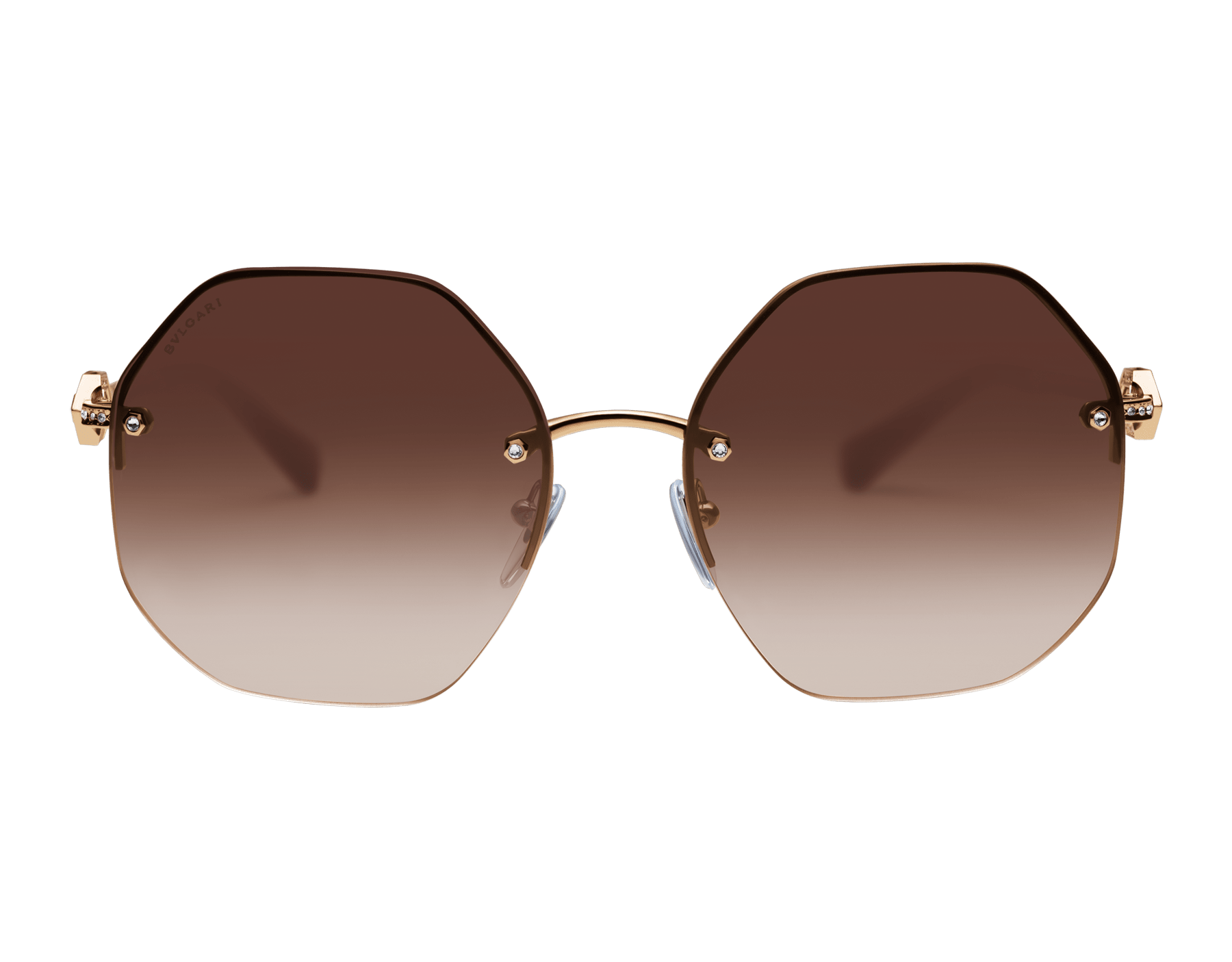 Bvlgari Serpenti oversized metal sunglasses with Serpenti openwork metal décor with crystals. 903854 image 2