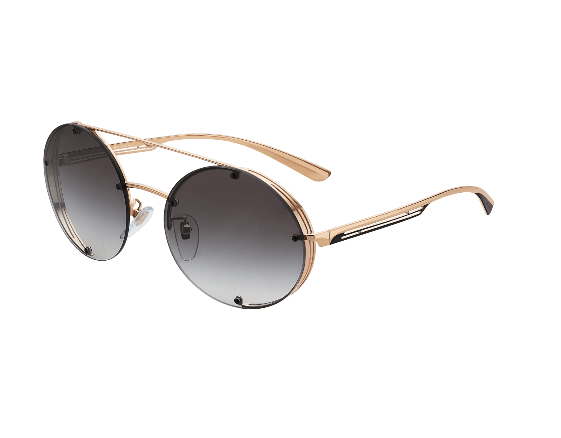Bvlgari B.zero1 B.flyingstripe round metal aviator sunglasses. 903815 image 1