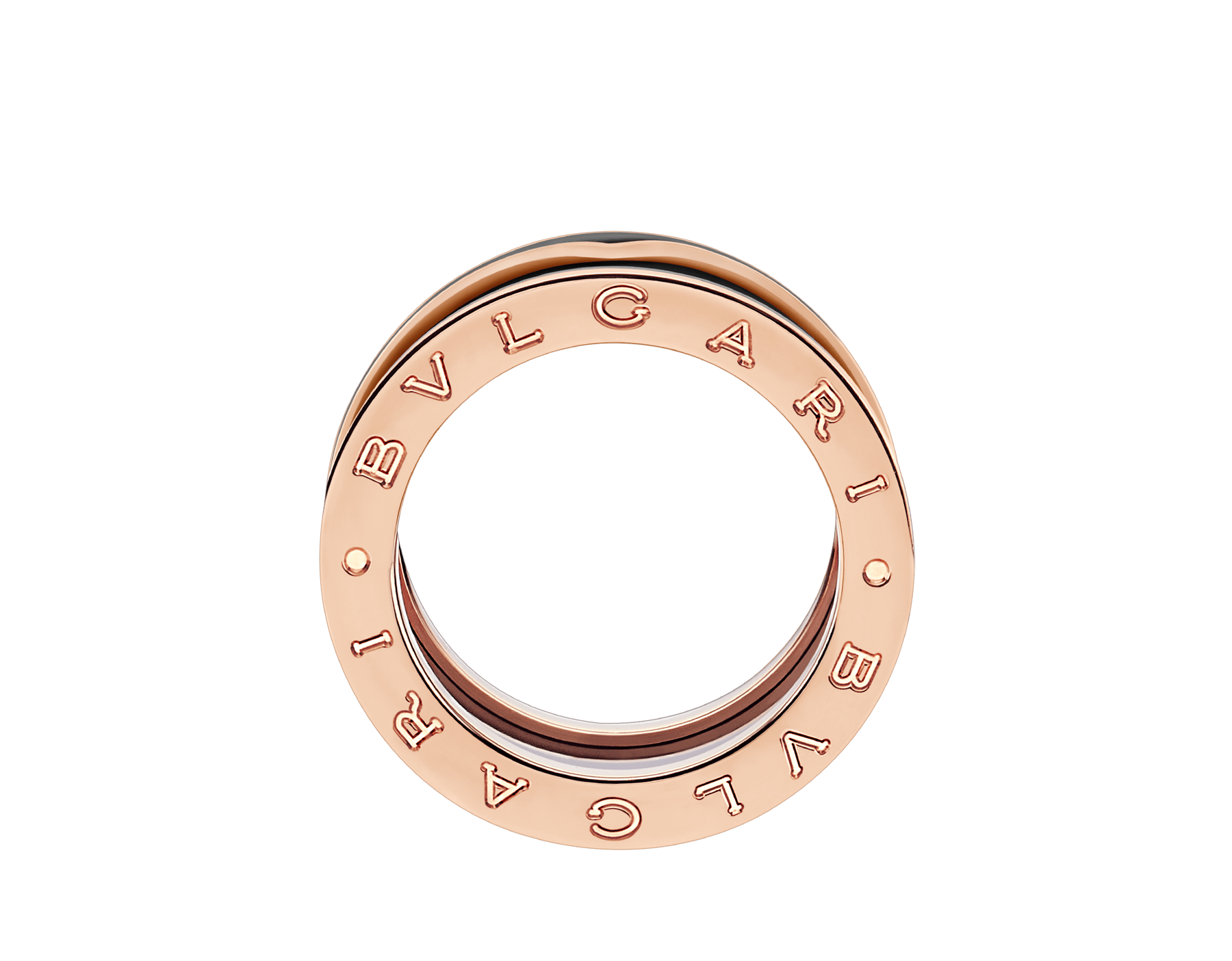 B.zero1 two-band ring in 18 kt rose gold with matte black ceramic AN858853 image 2
