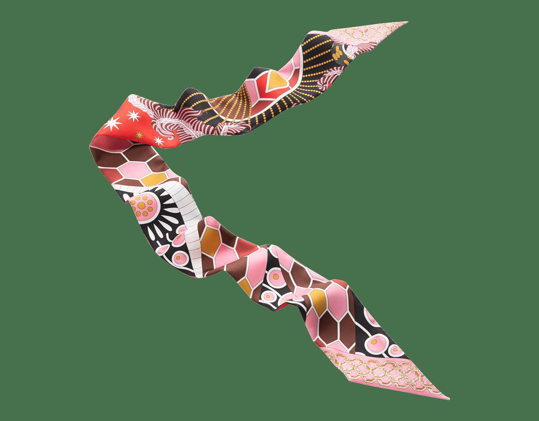 Estola shelley DIVINA de sarga de seda fina color jaspe carmín. 244467 image 1