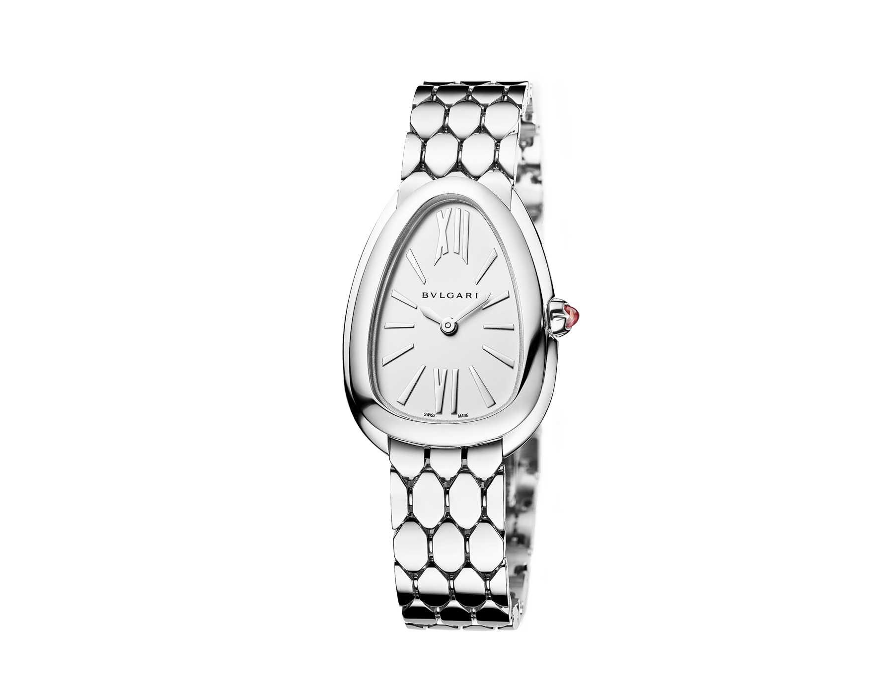 Serpenti Seduttori watch with stainless steel case, stainless steel bracelet and a white silver opaline dial. 103141 image 2