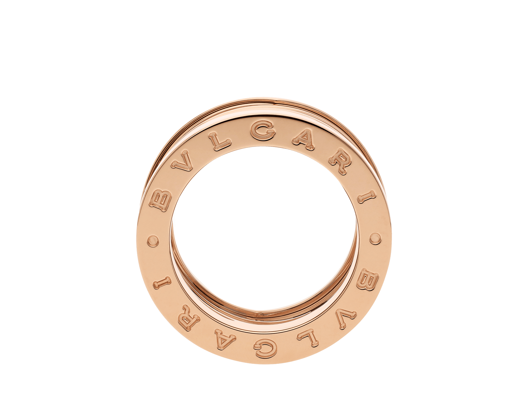 B.zero1 Design Legend four-band ring in 18 kt rose gold and white ceramic AN858574 image 2