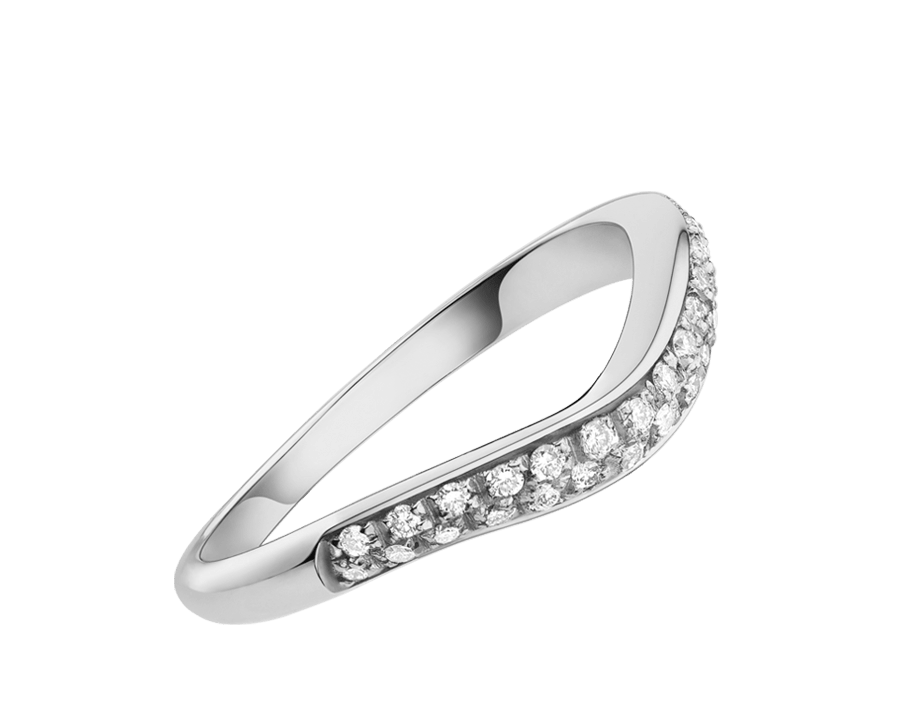 Corona platinum wedding ring with pavé diamonds with matching Corona 0.40 - 1.50 ct engagement rings AN856080 image 1