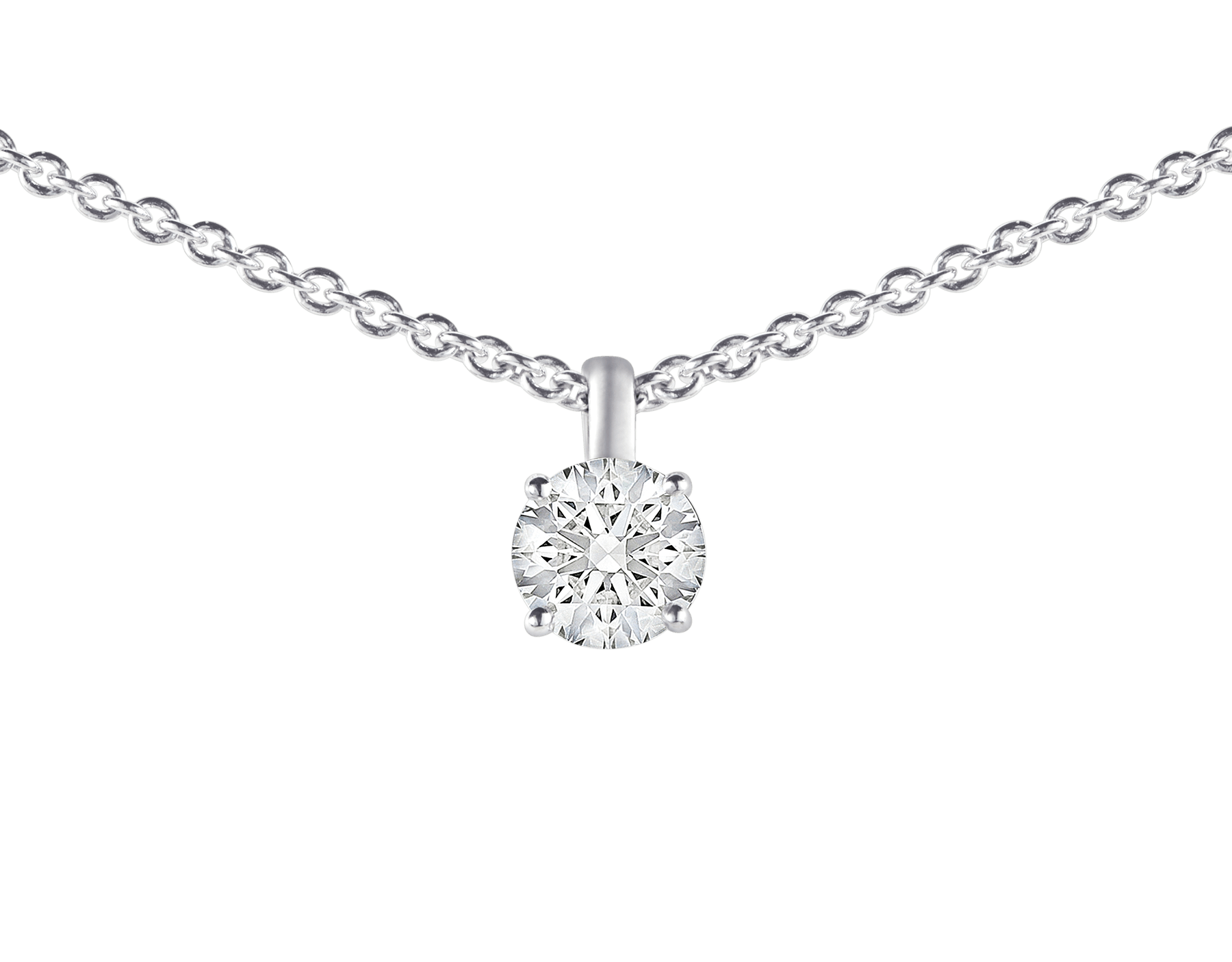 Griffe 18 kt white gold pendant with round brilliant cut diamond and 18 kt white gold chain 338201 image 3