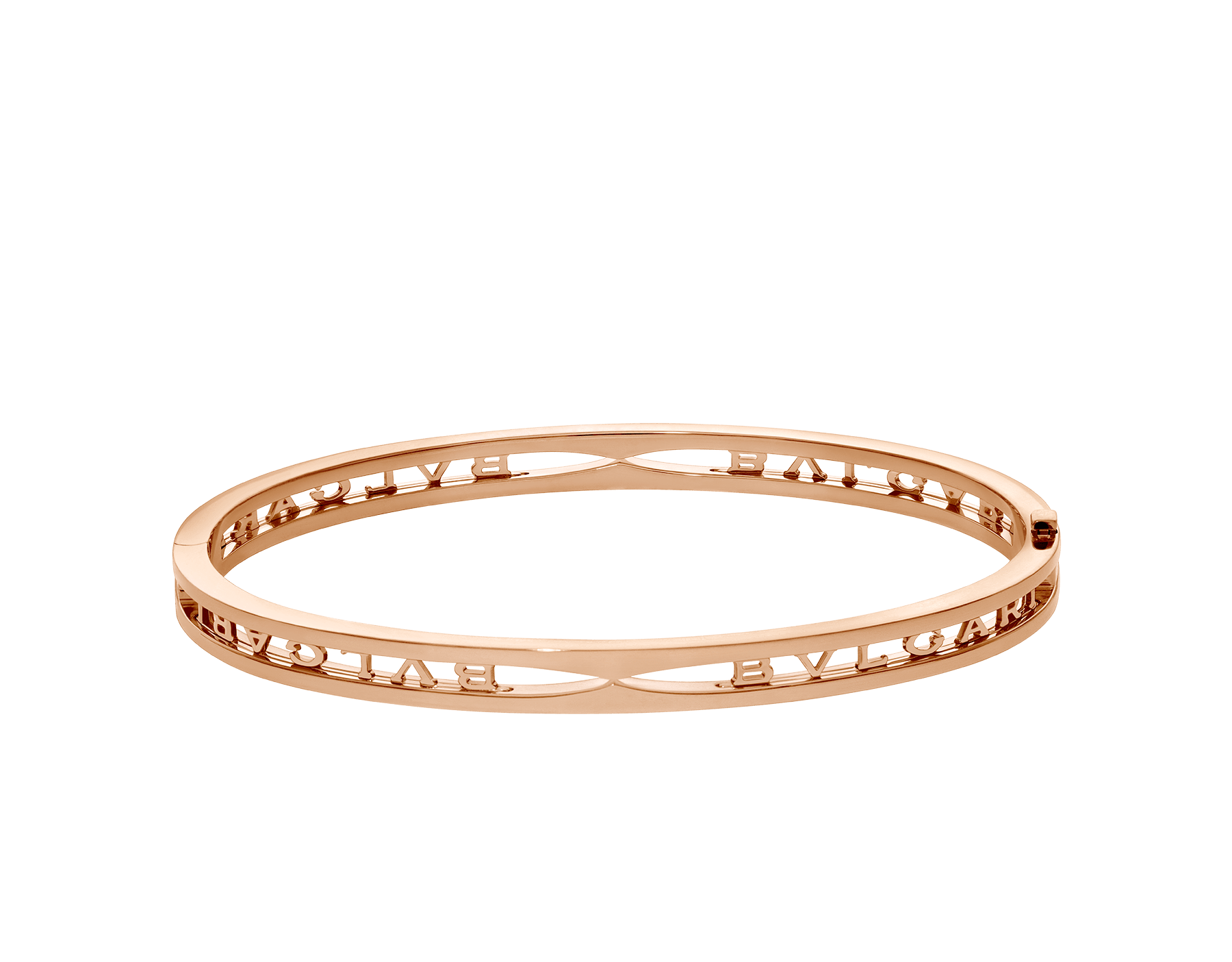 B.zero1 18 kt rose gold bangle bracelet with BVLGARI logo on the spiral BR858669 image 2