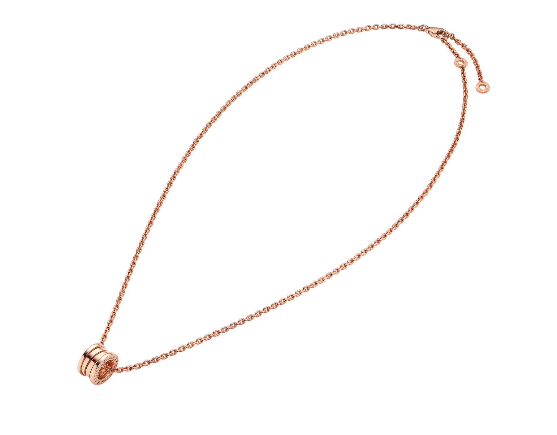B.zero1 pendant necklace in 18 kt rose gold 358348 image 2