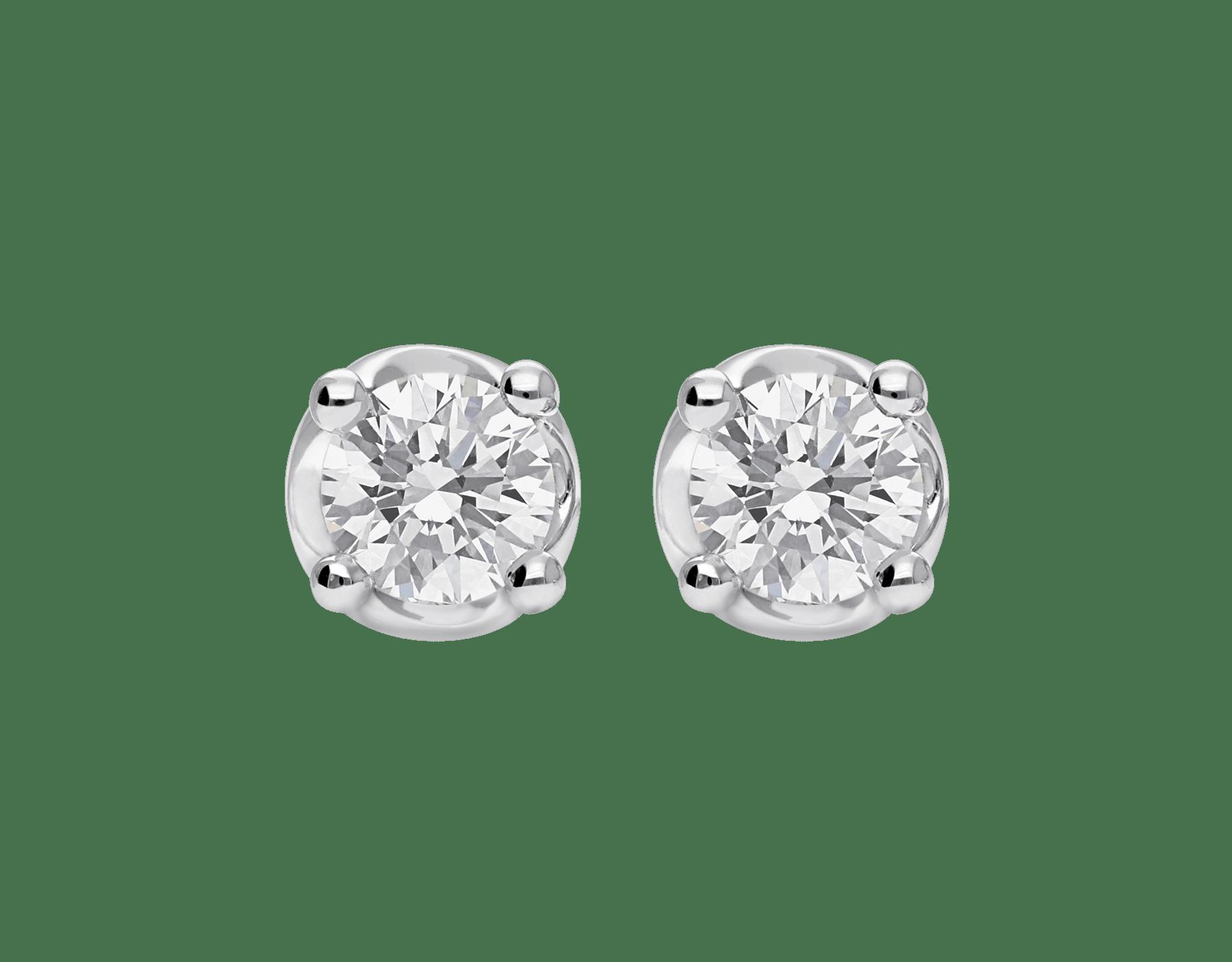 Corona 18 kt white gold earrings set with round brilliant cut diamonds OR-CORONA image 1
