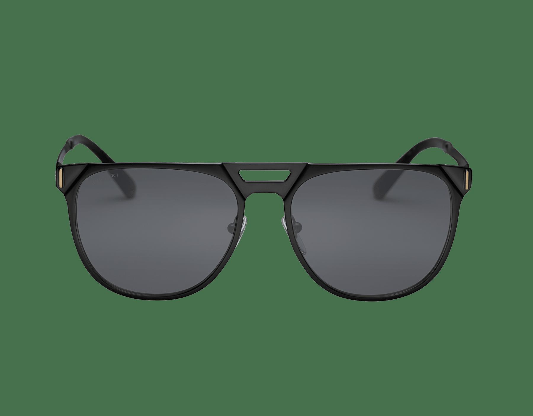 Bulgari Octo squared pilot gold plated metal sunglasses with polar lenses 903689 image 2